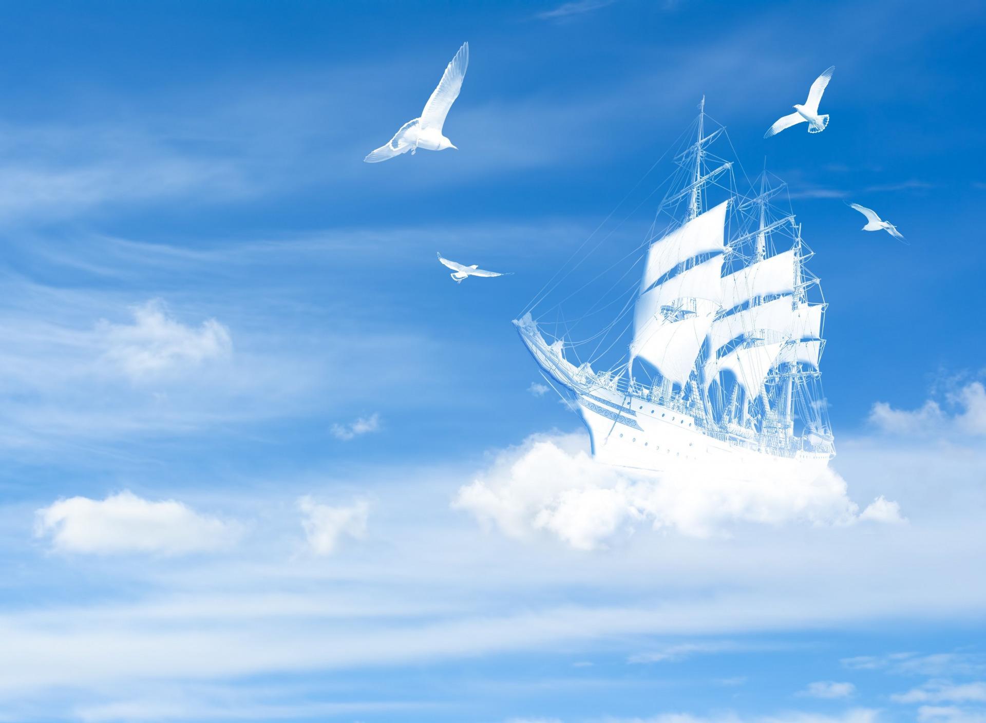 Открытки с голубым небом
