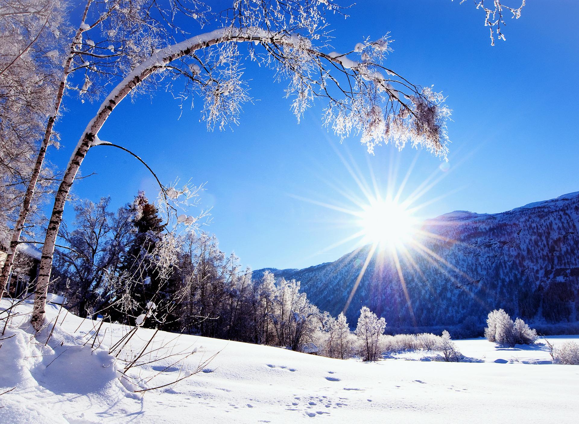 Красивые картинки доброго зимнего утра солнышко