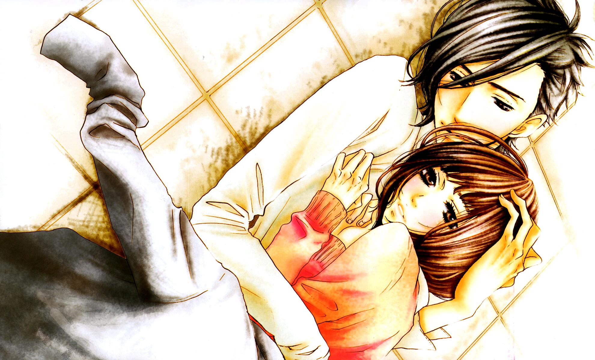 Открытки аниме люблю тебя