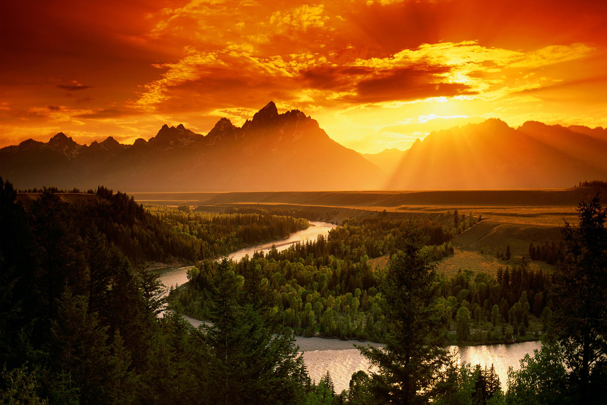 sunrise pictures in the mountains - HD1999×1333