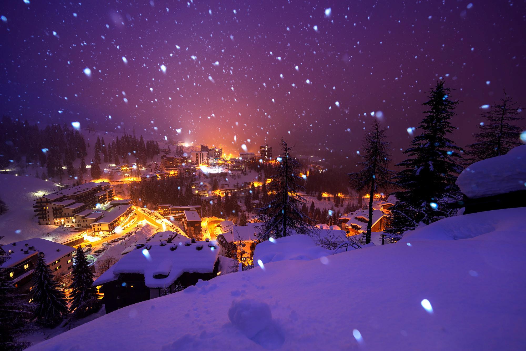снежная ночь в городе фото маргарин порубите