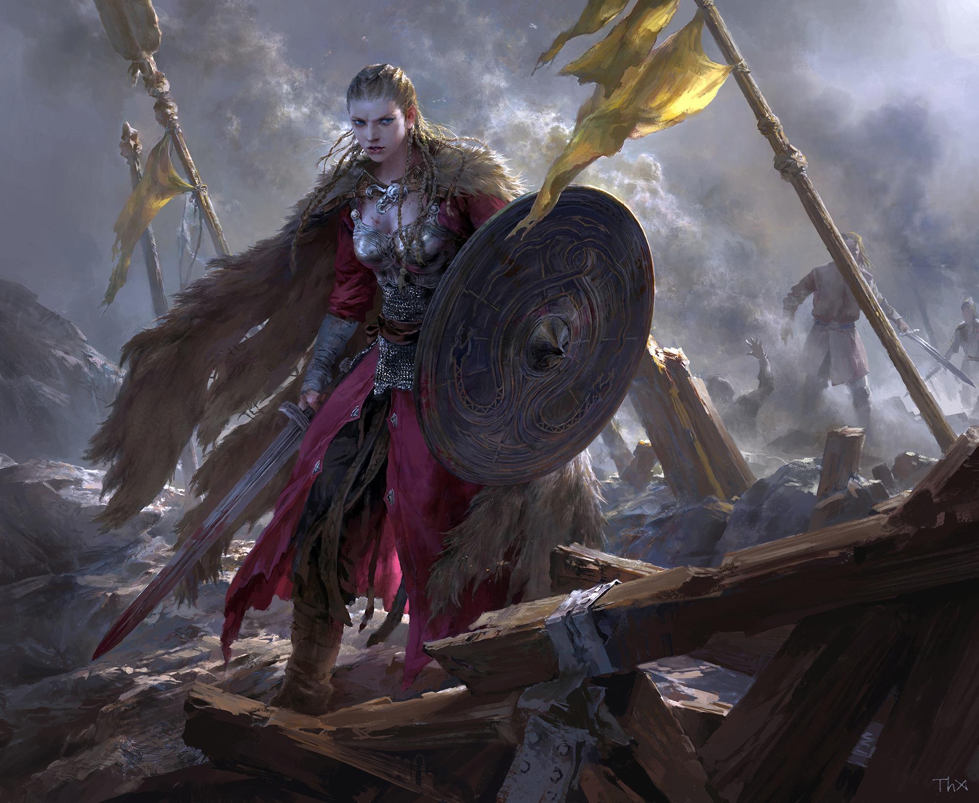 Картина с мечами