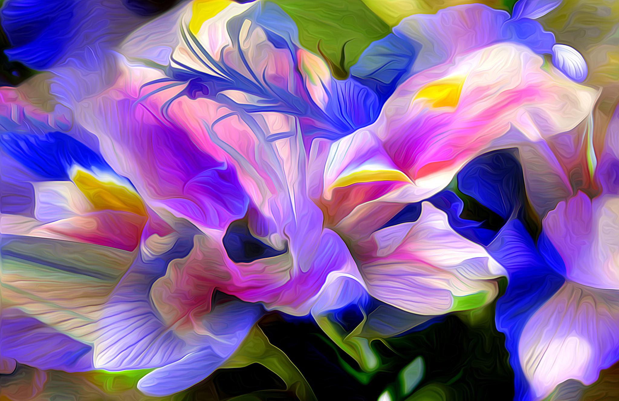 конструкции картинки фантазийных цветов инфракрасной фотосъёмки том