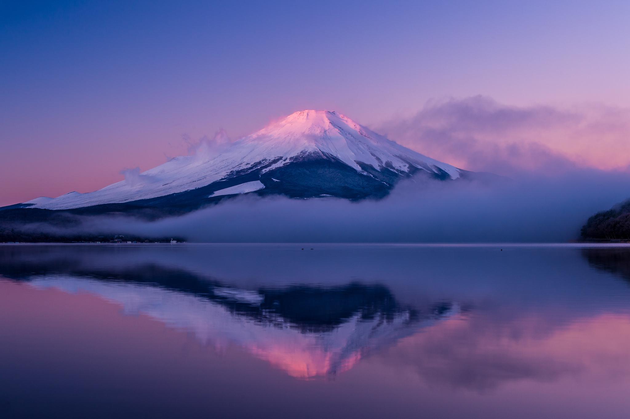 вулкан горы облака туман  № 755047  скачать