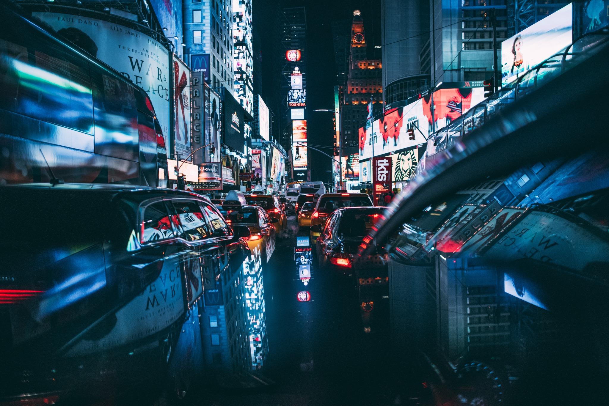 Ночной город картинки с машины