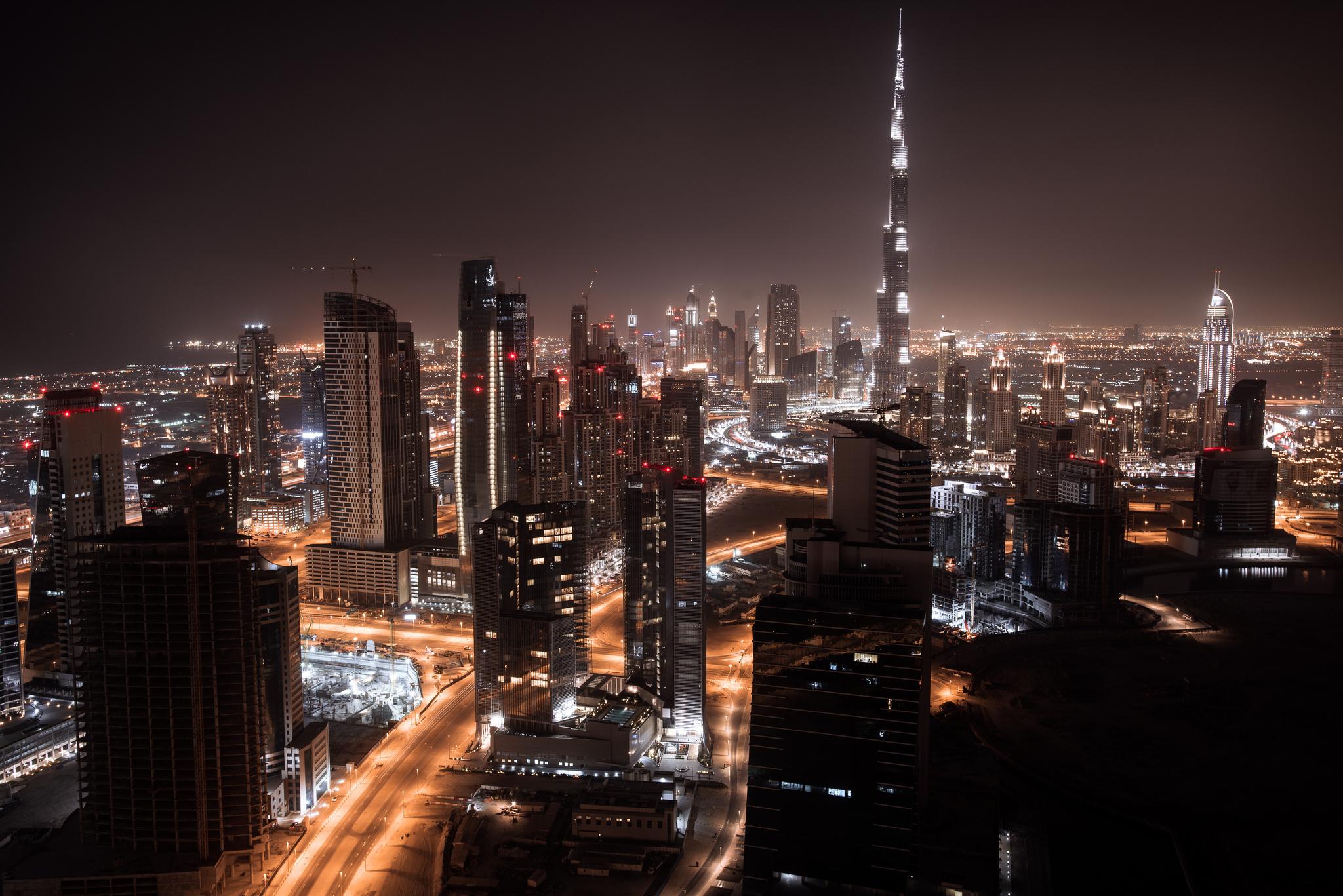 небоскребы ночь город  № 3358920  скачать
