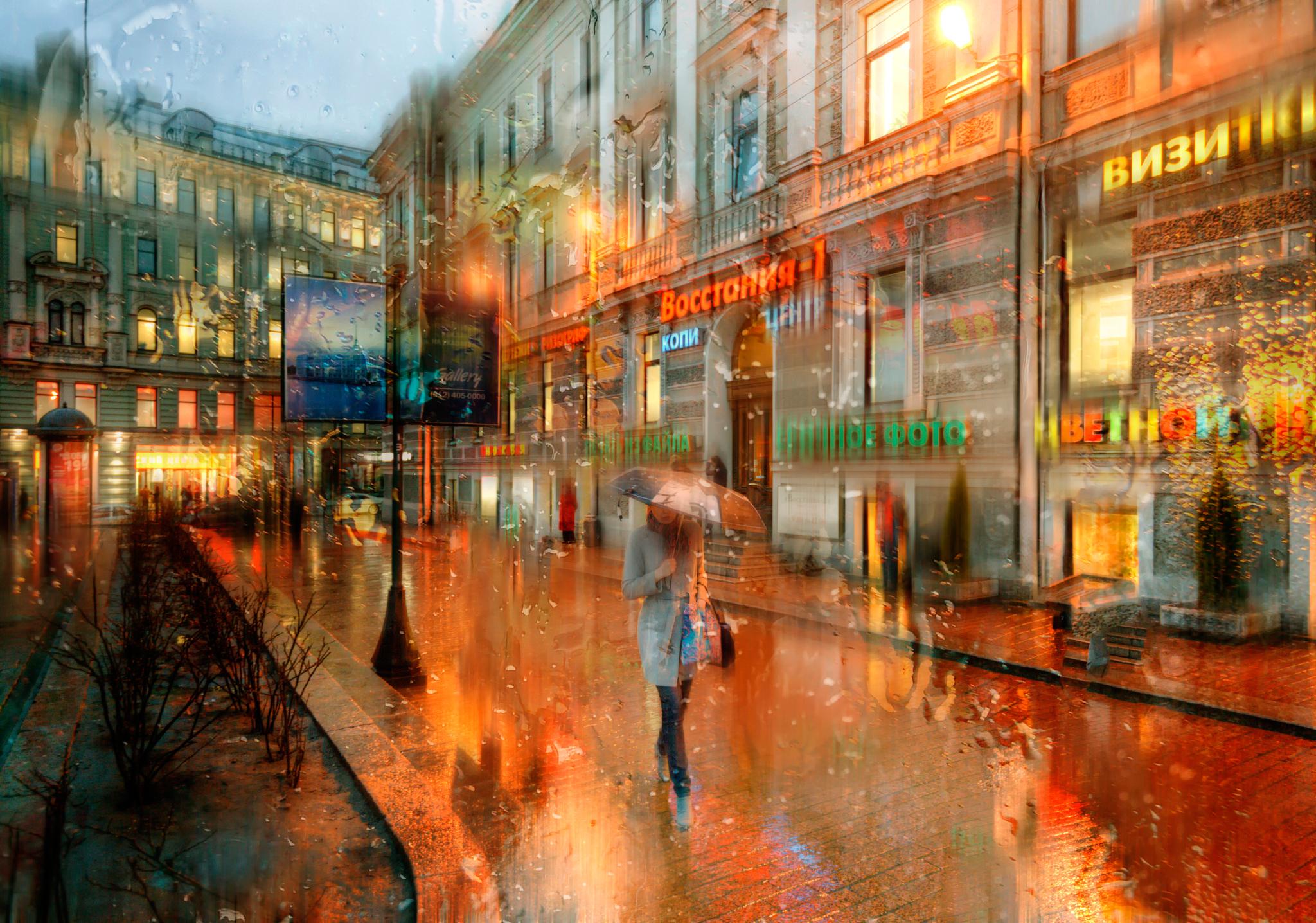дождь питер обои для рабочего стола № 452372 бесплатно