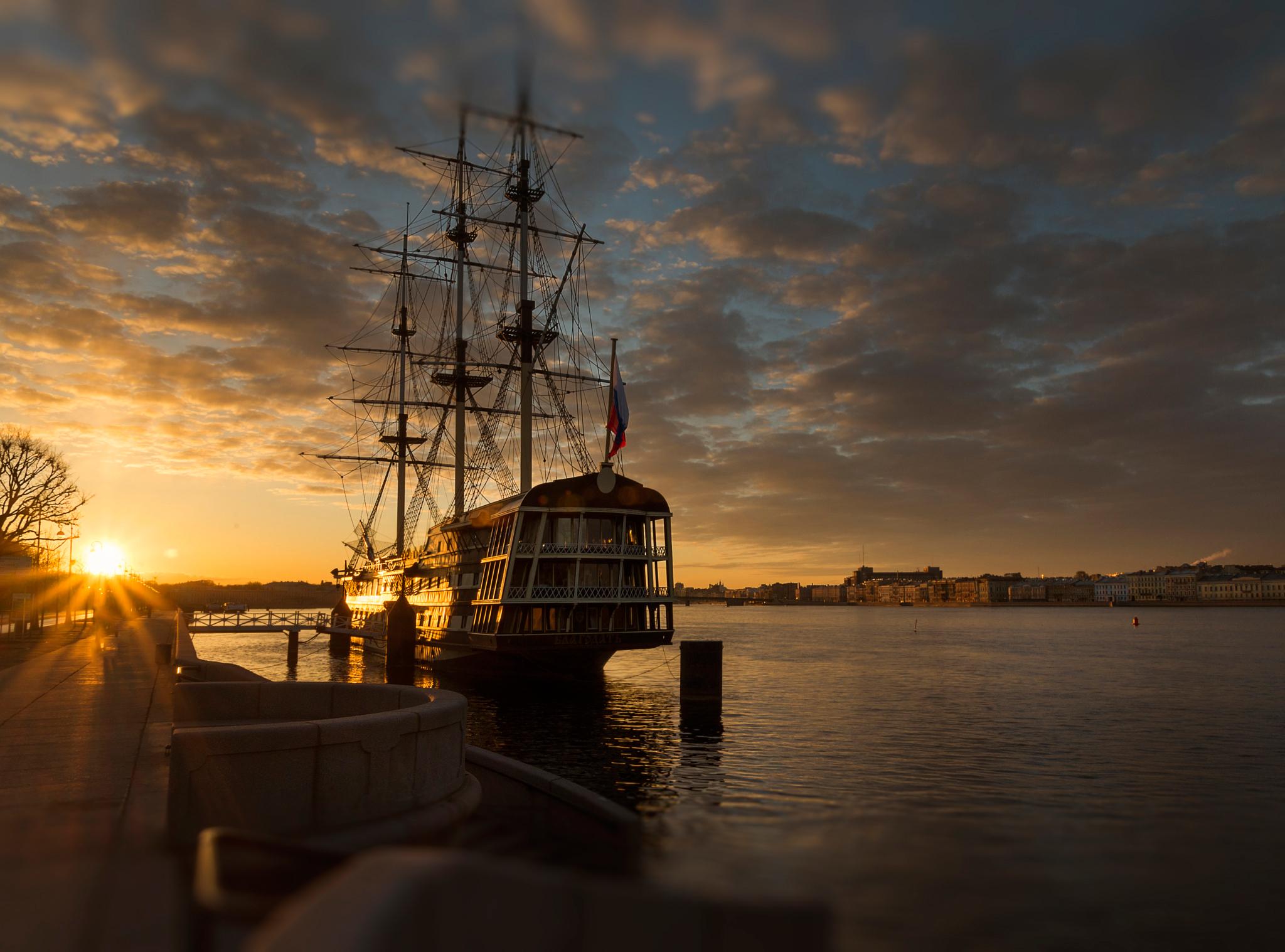 Санкт-Петербург корабль закат  № 3944994 без смс