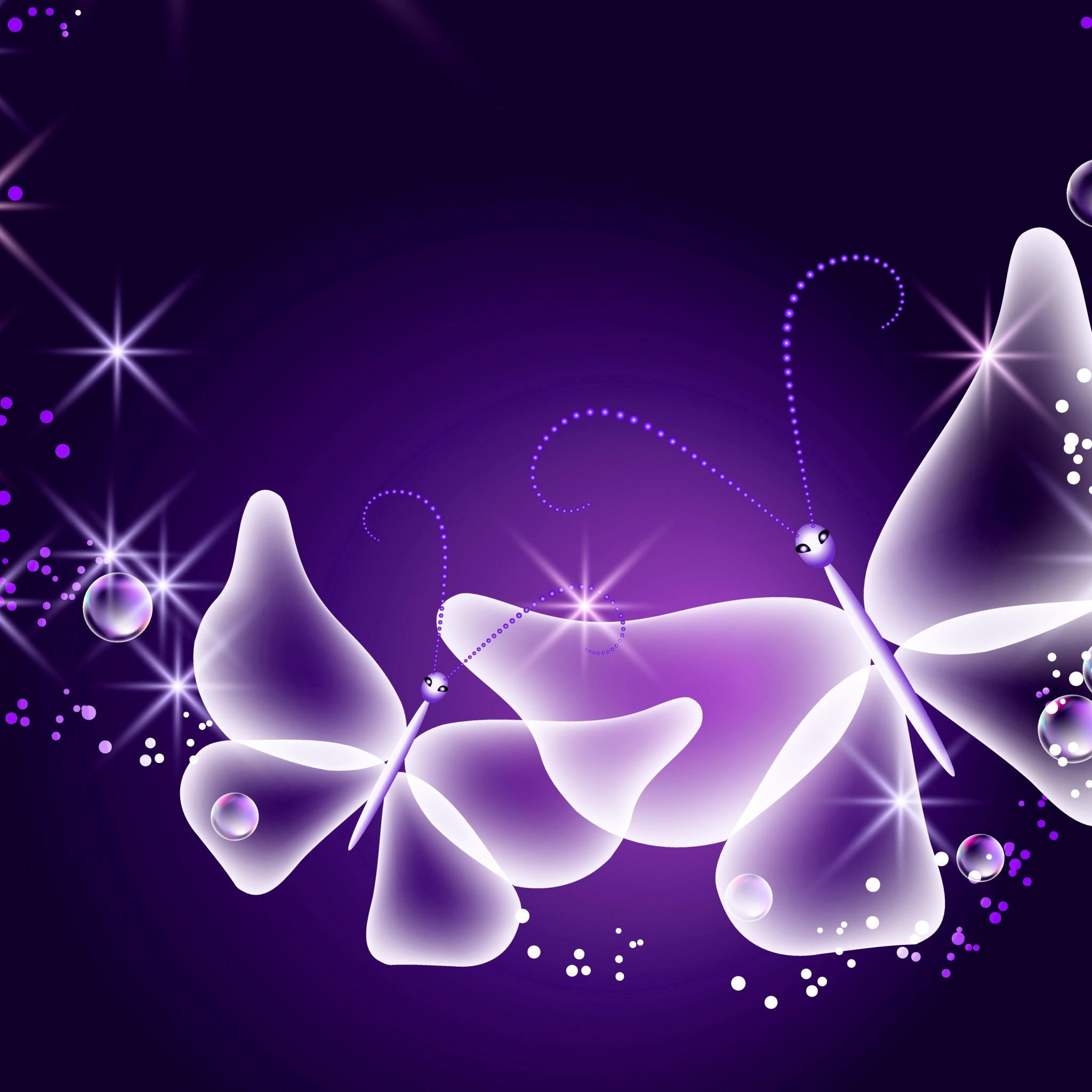 Обои glow, butterflies, Abstract, неоновые, blue, sparkle. Абстракции foto 9