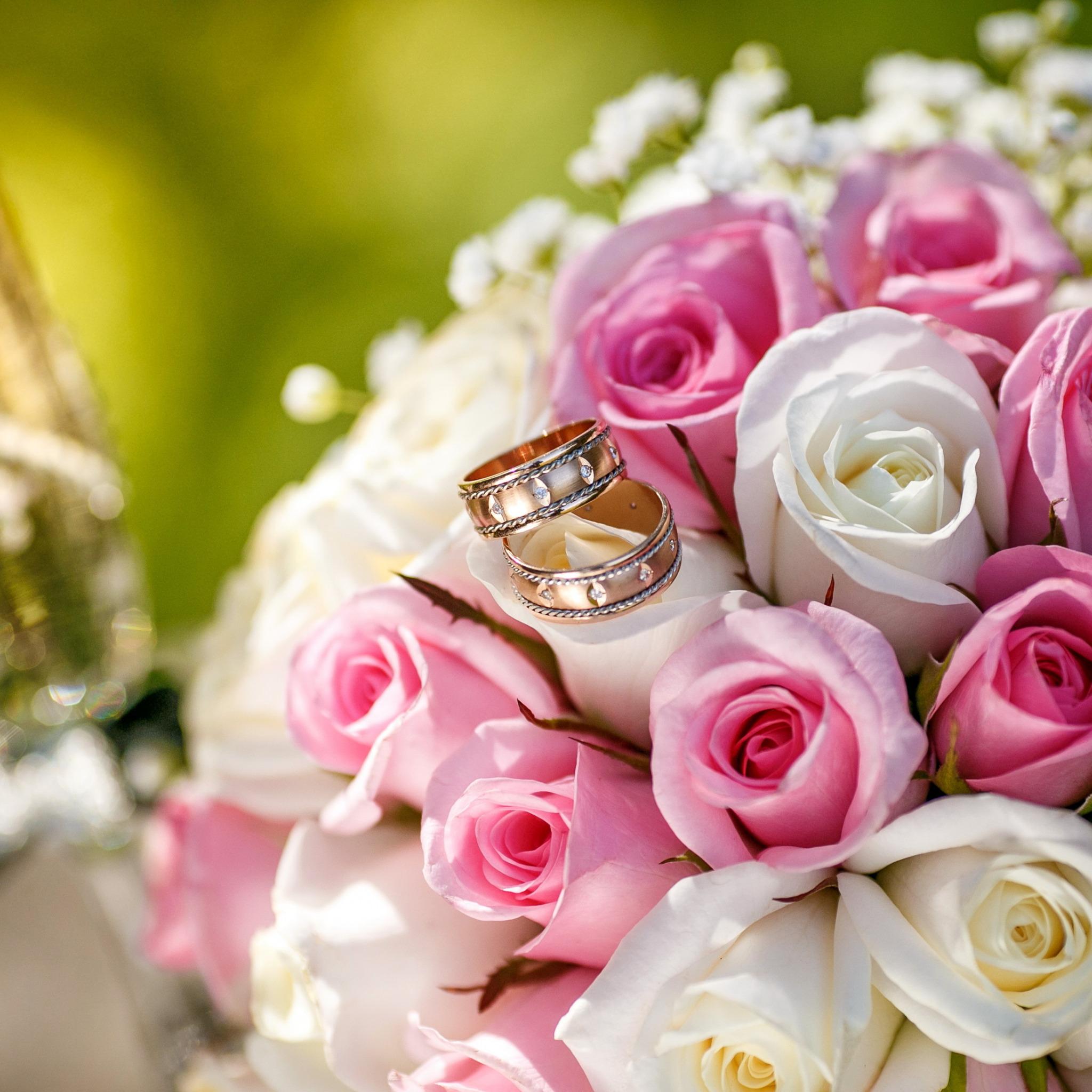 Годовщина свадьбы открытки букет