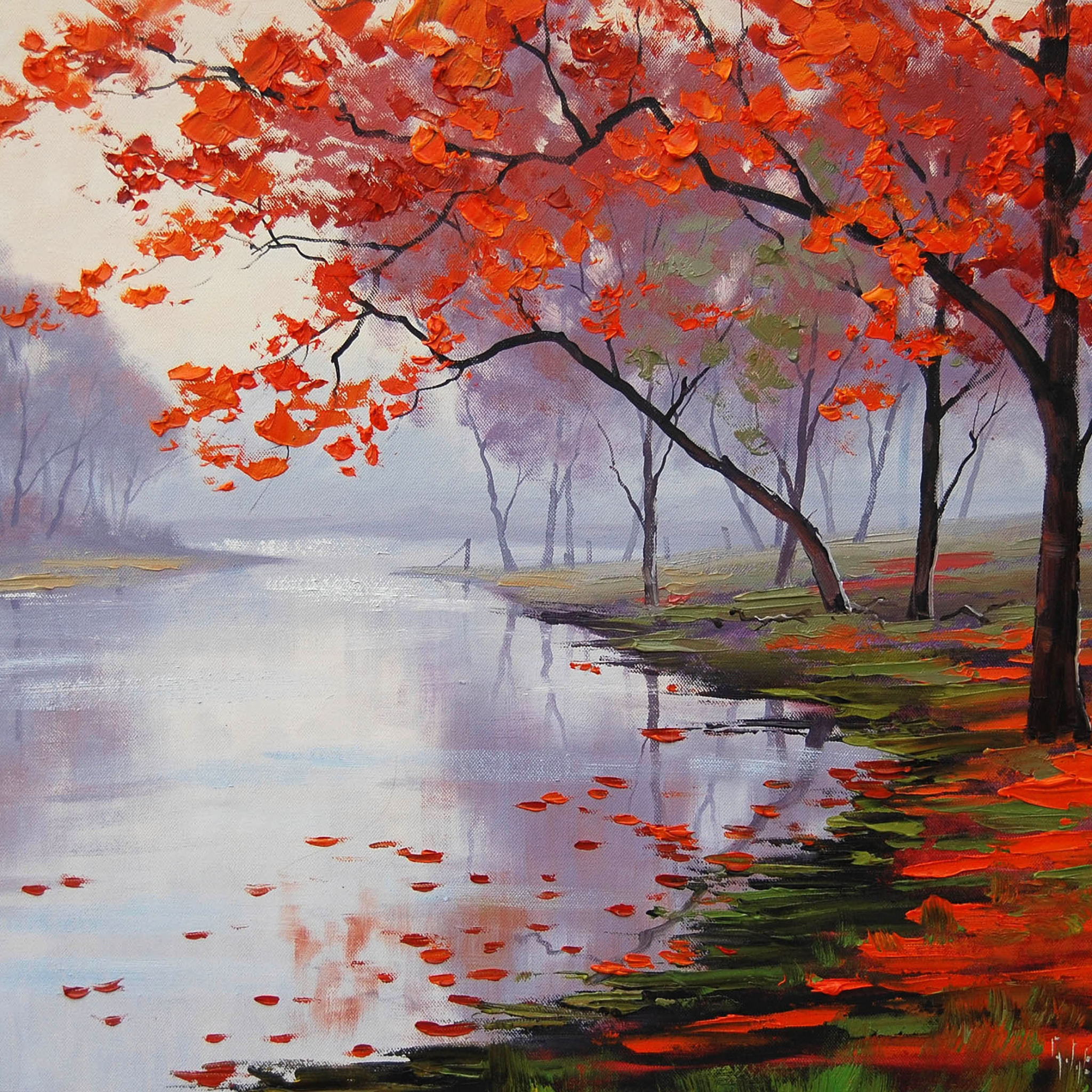 Пейзаж осень рисунки