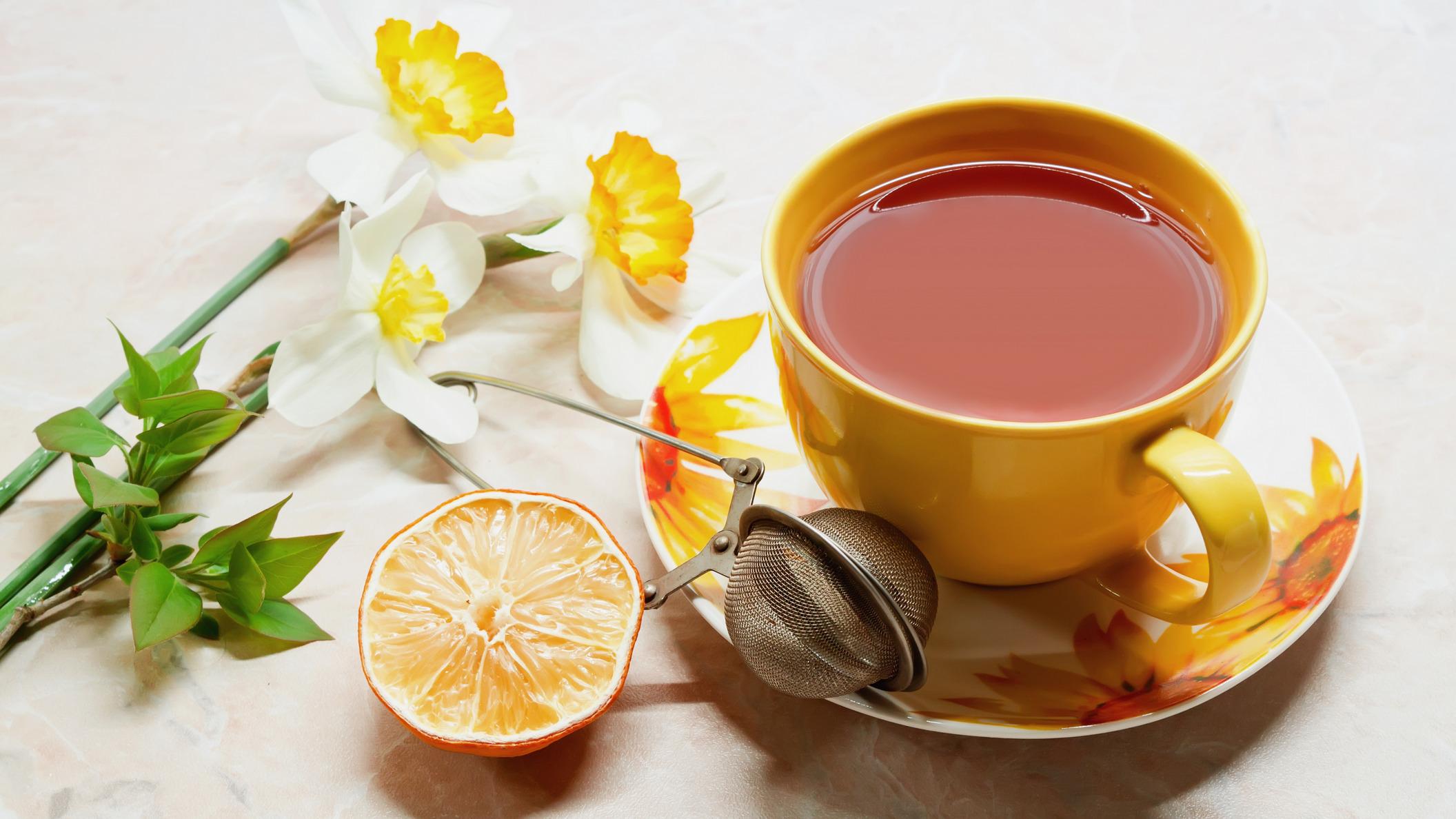 пирожные лимоны чай  № 3678331 бесплатно