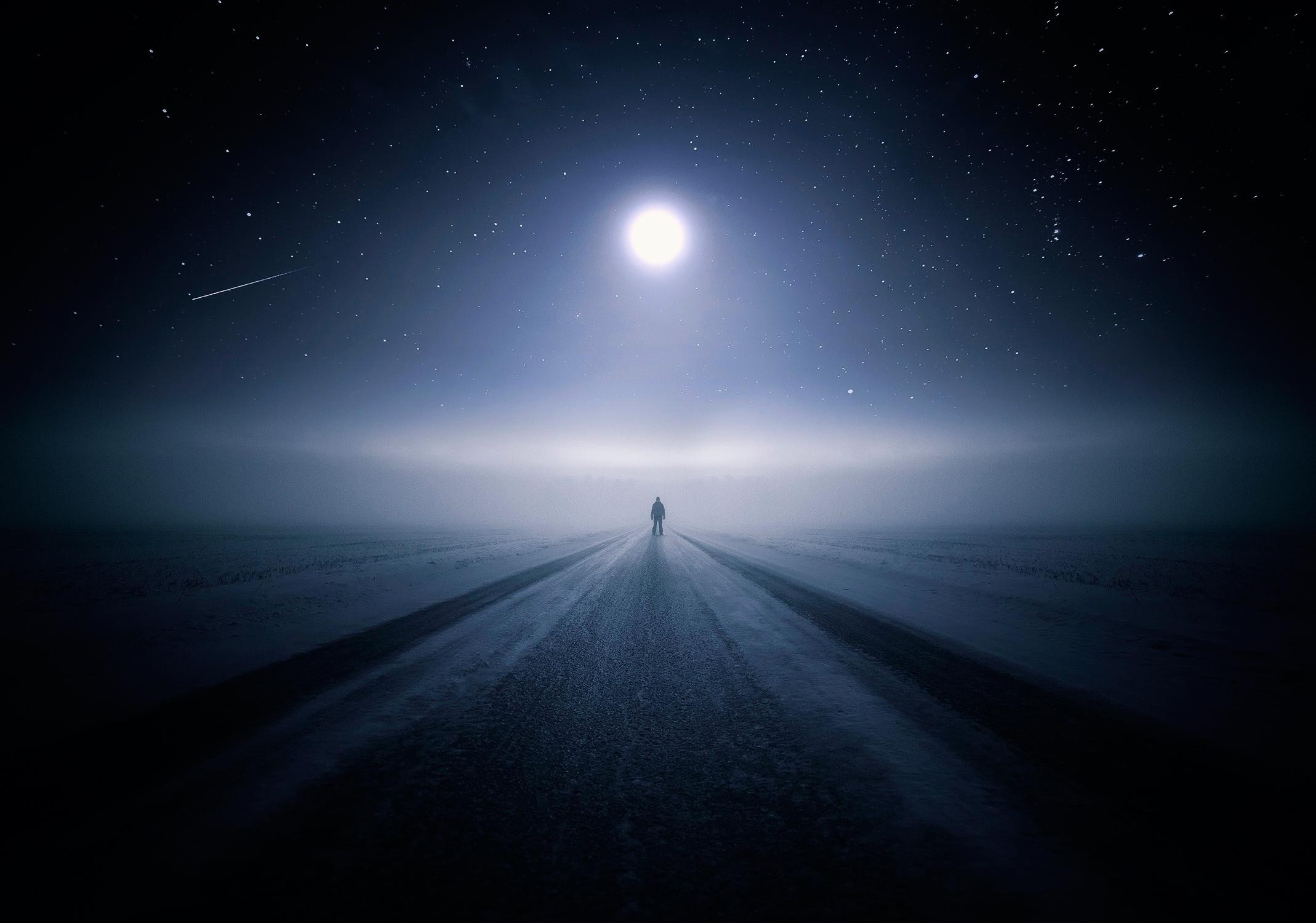 дорога в ночь картинки звезда снегоочистительной техники