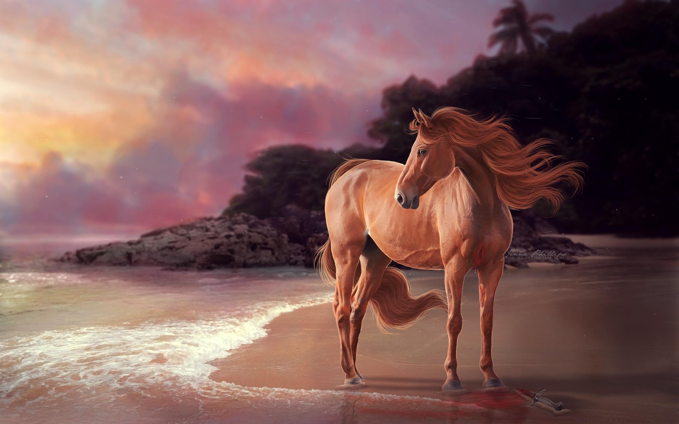 лошадь с гривой  № 3127211 бесплатно