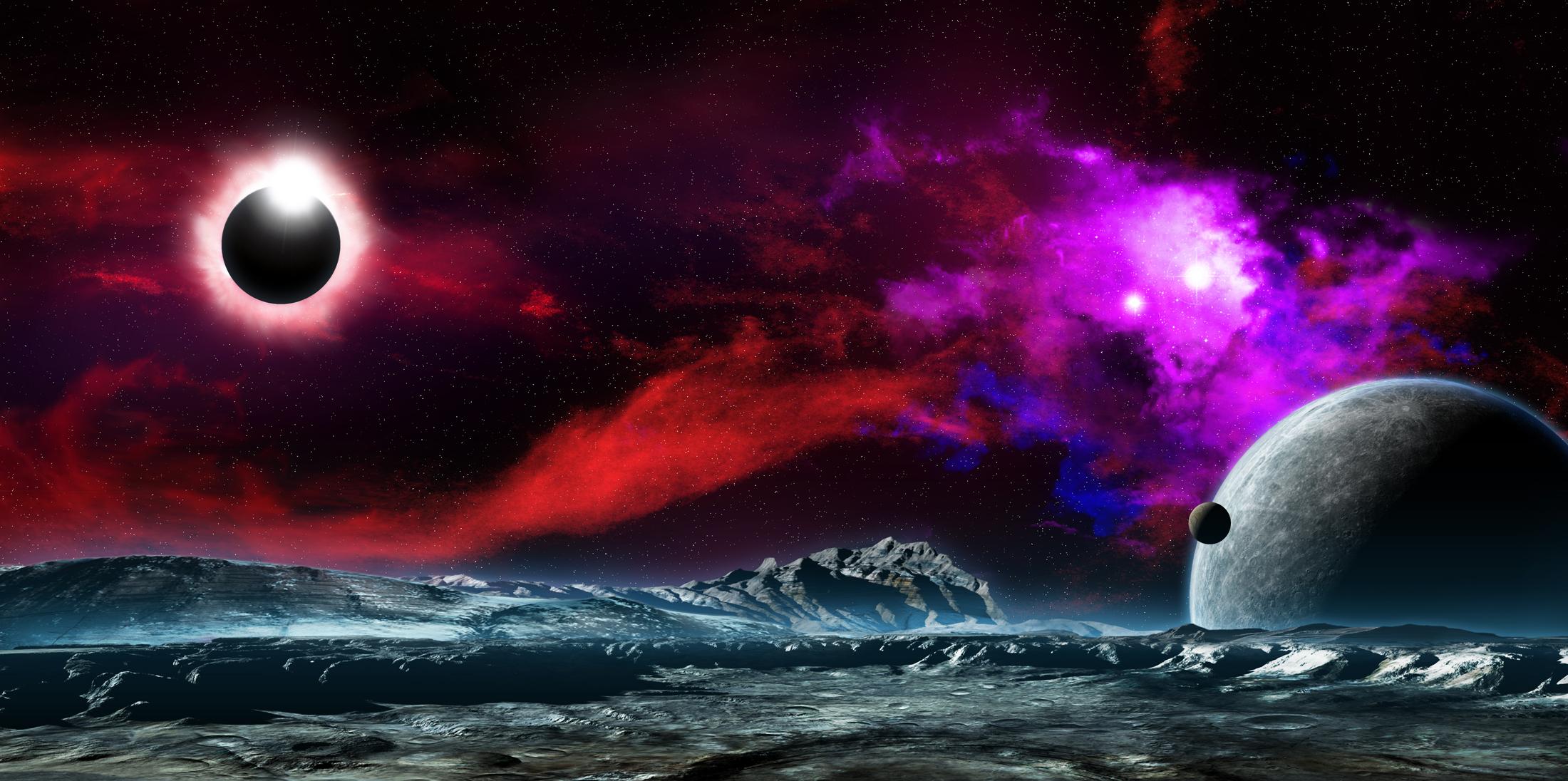 Космос звезды вселенная планеты