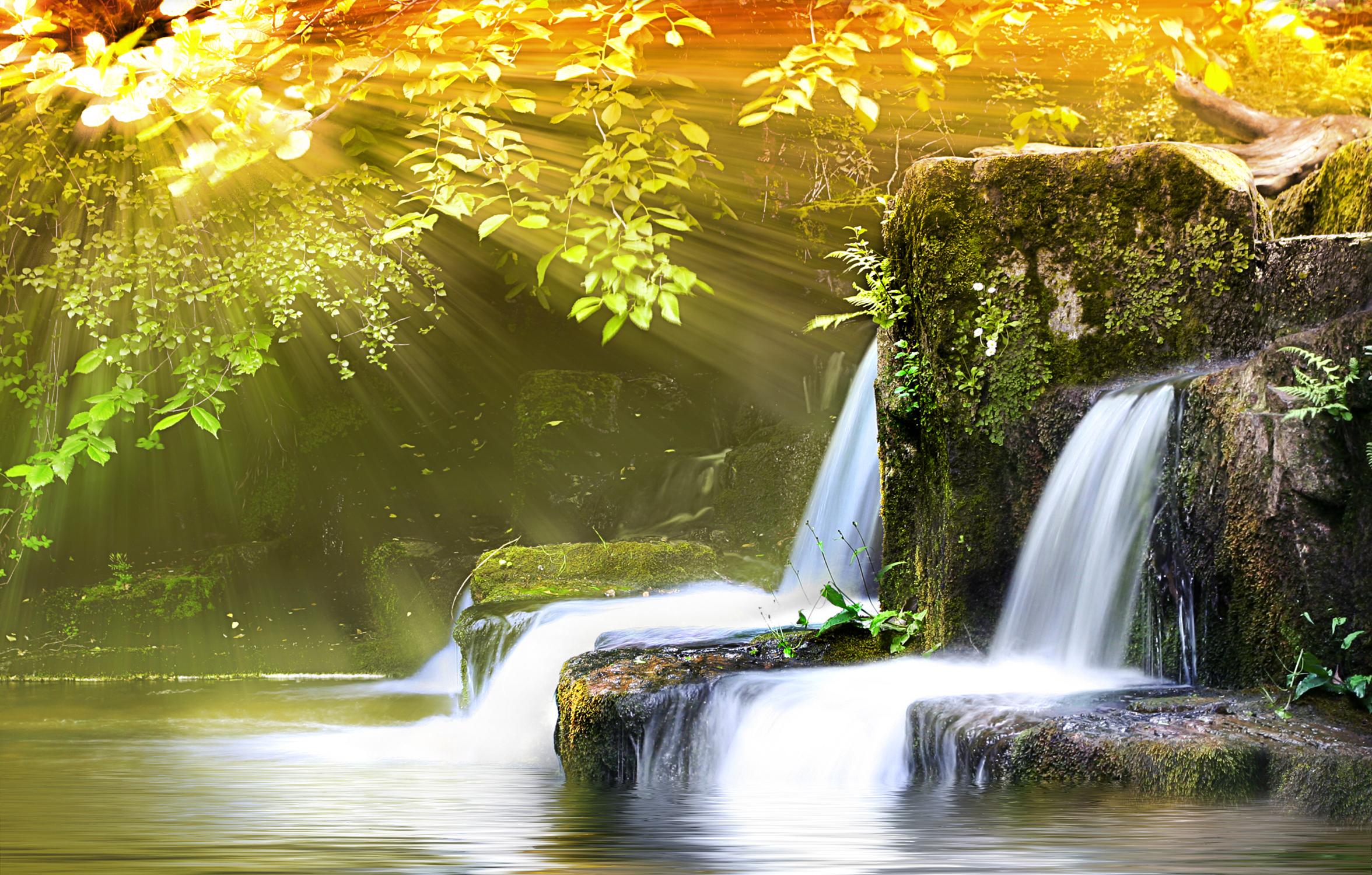 Именем семен, водопад открытка видео