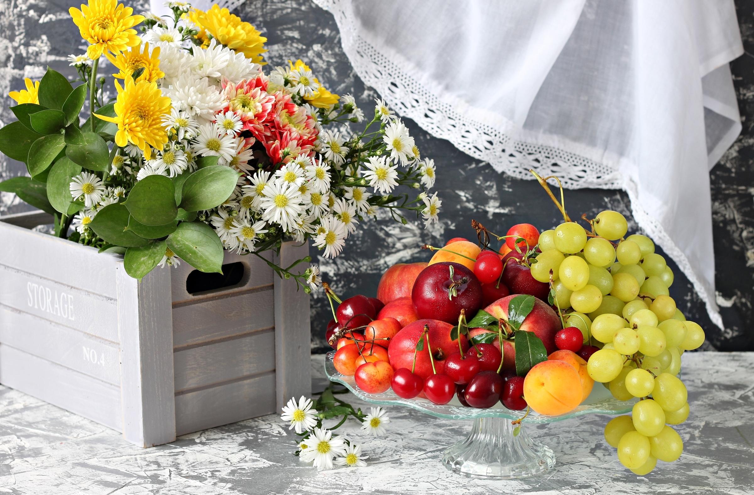 Цветы фрукты открытка, открытка