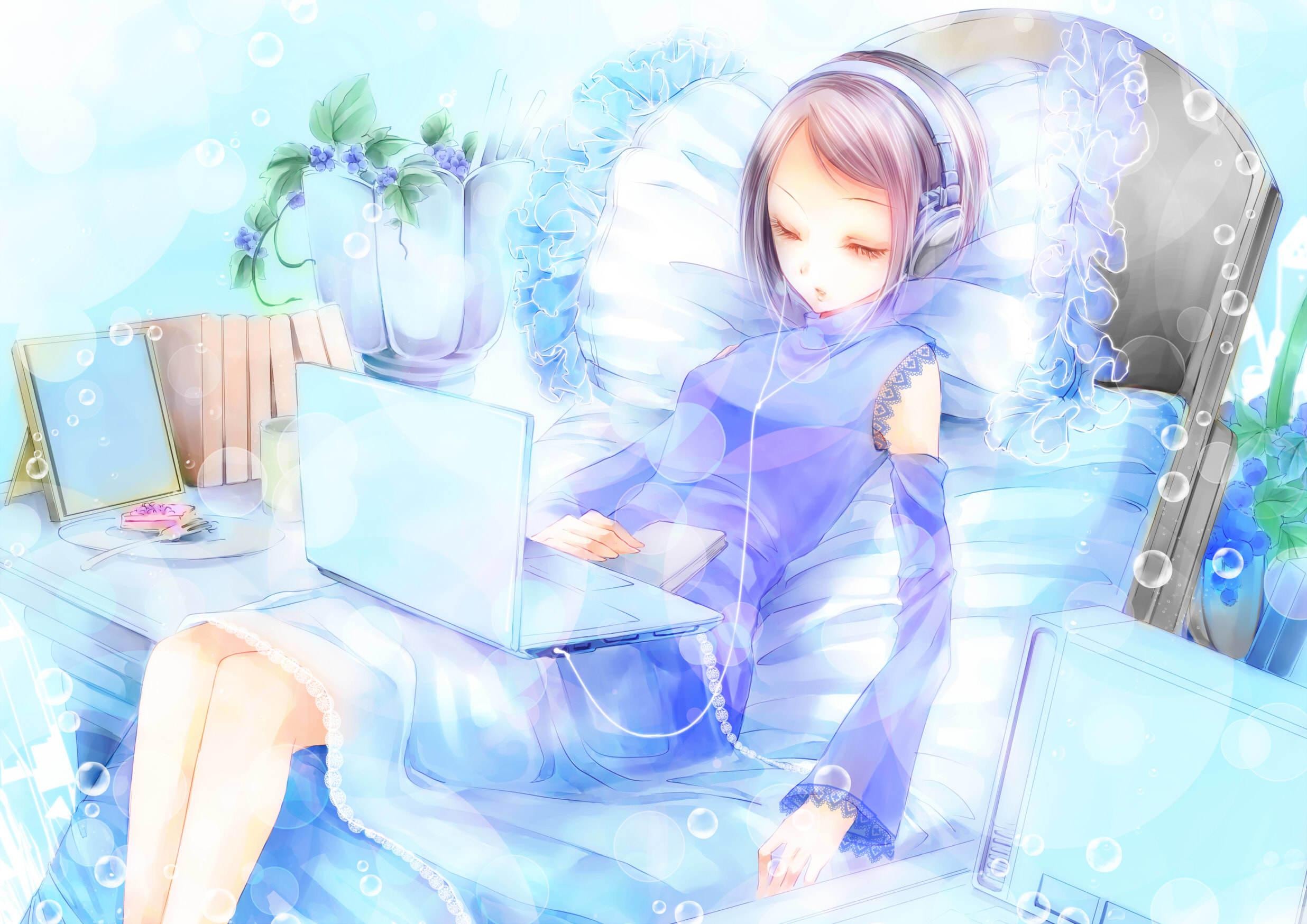 Картинки ноутбуков аниме
