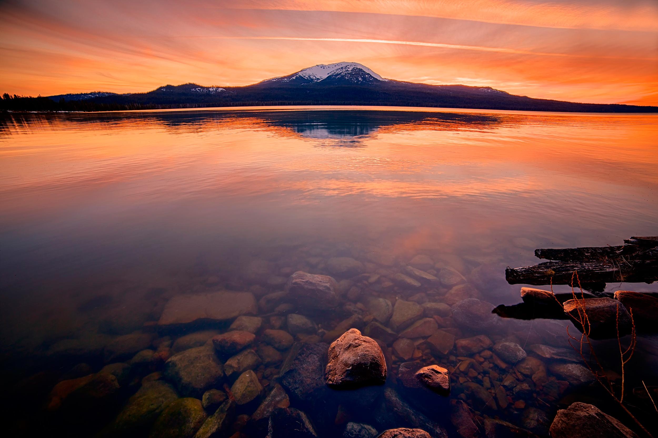 закат, скалы, озеро  № 661829 бесплатно