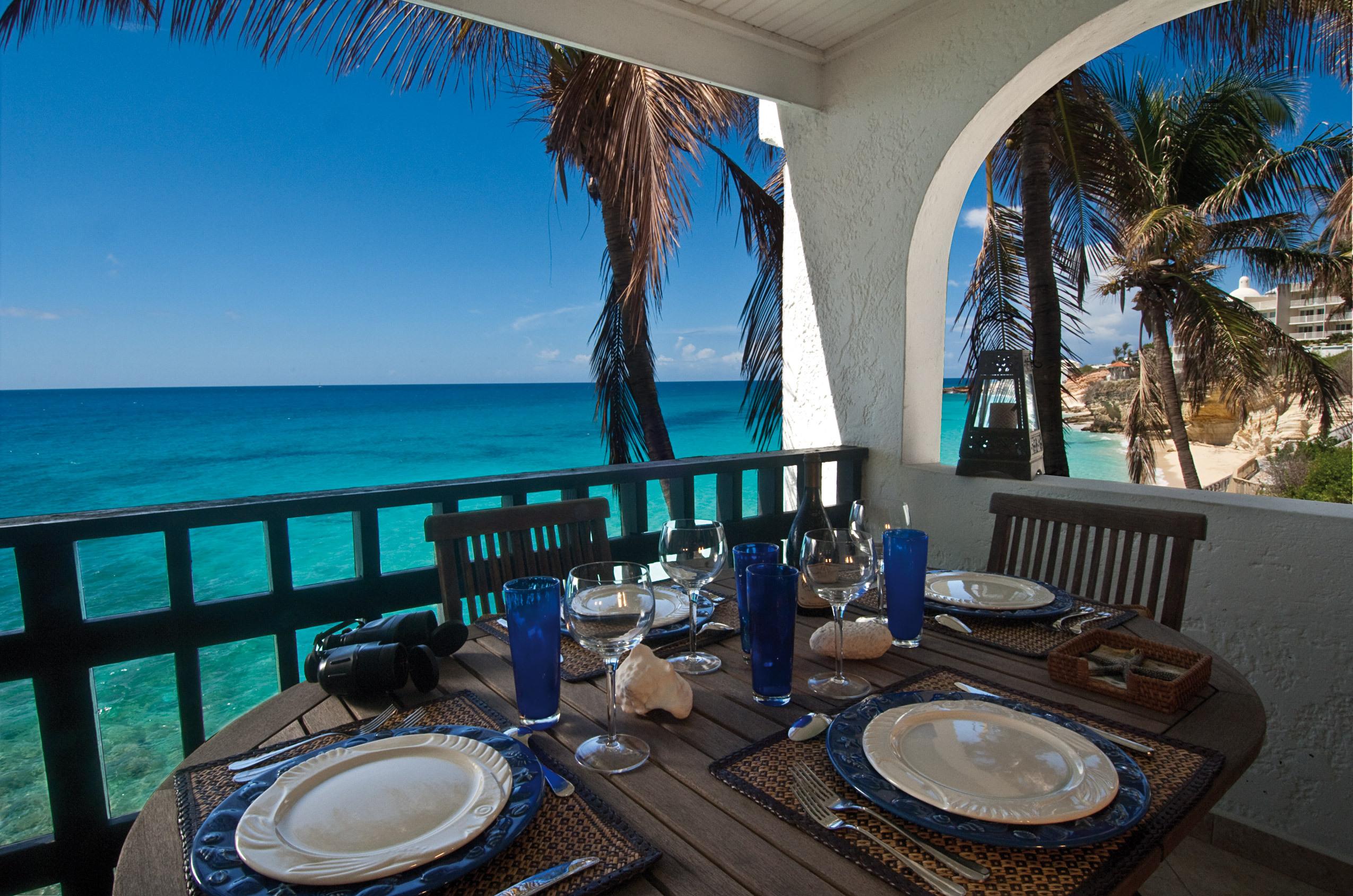 Скачать обои отдых, терраса, пляж, море, вид, relax, горизон.