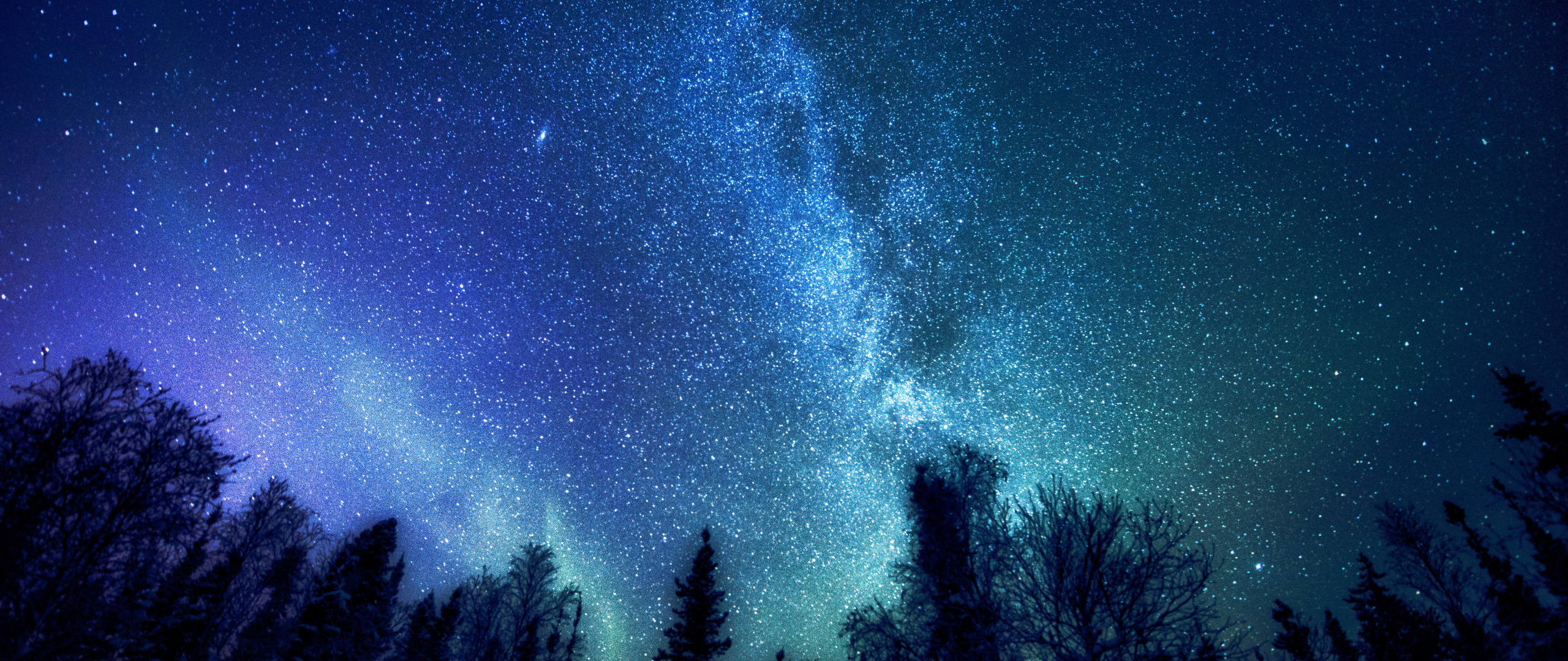 Night Sky Stars Background Psdgraphics - HD 2560×1080