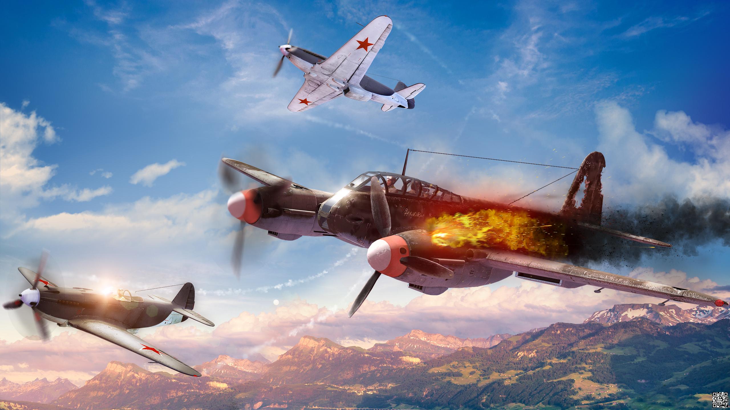 Обои Ме-410, war thunder, Самолёт, истребитель, война, Облака. Игры foto 6