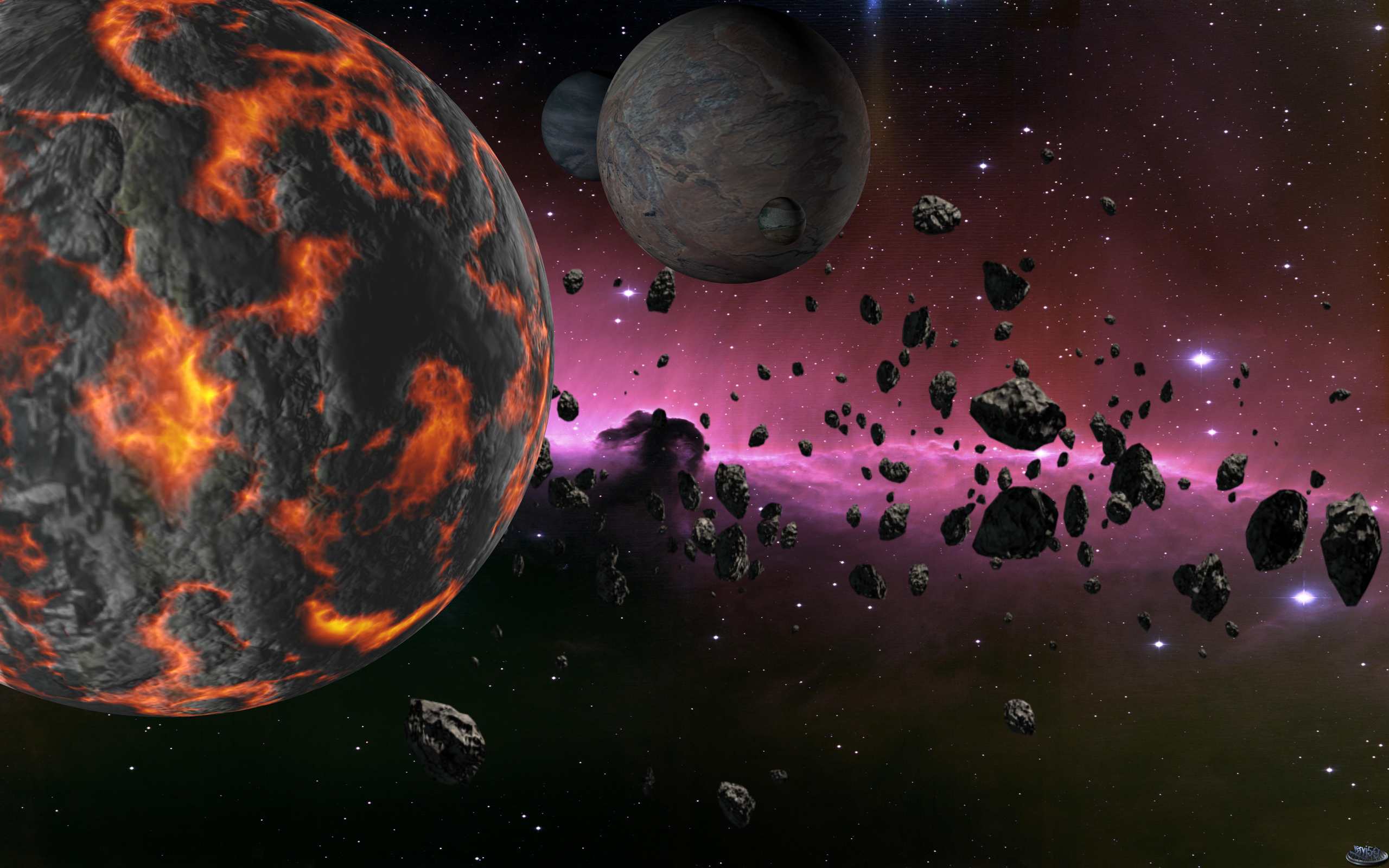 asteroid planets - HD 1920×1200