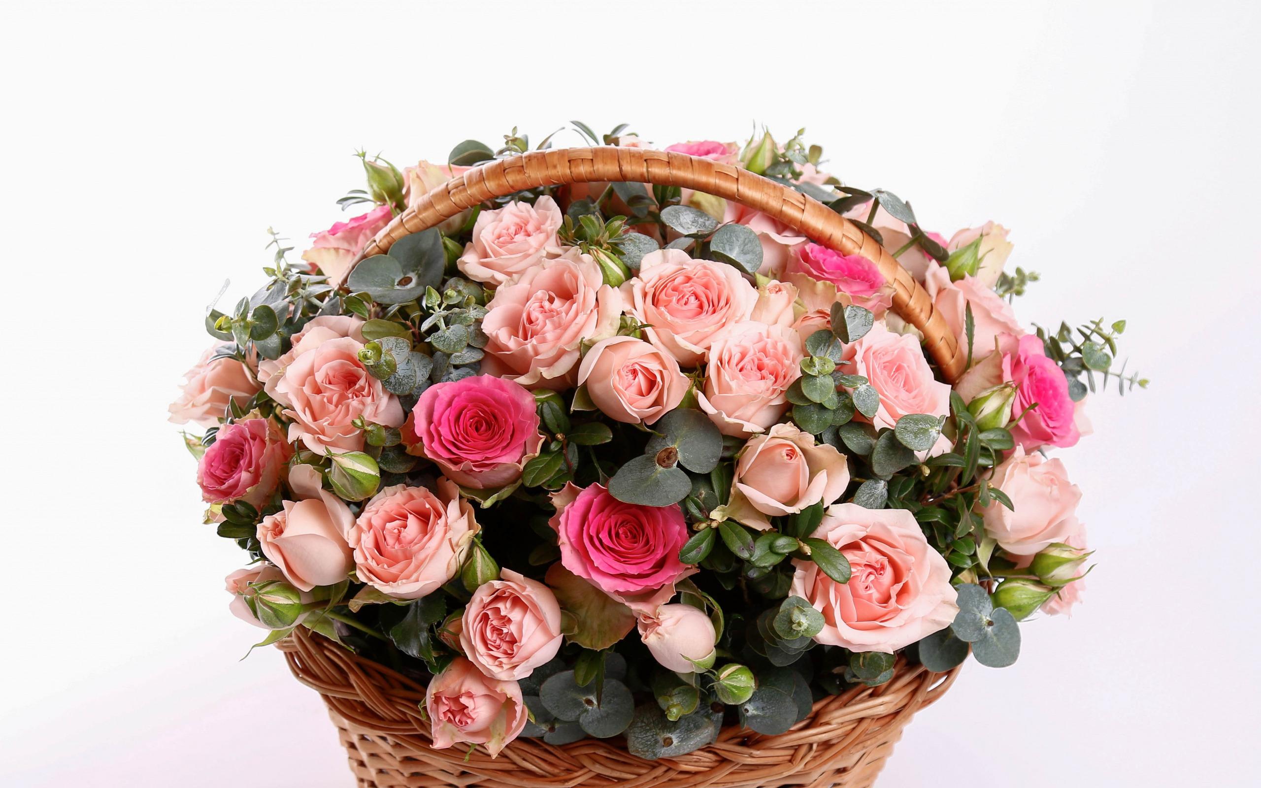 Новые открытки с днем рождения корзины цветов