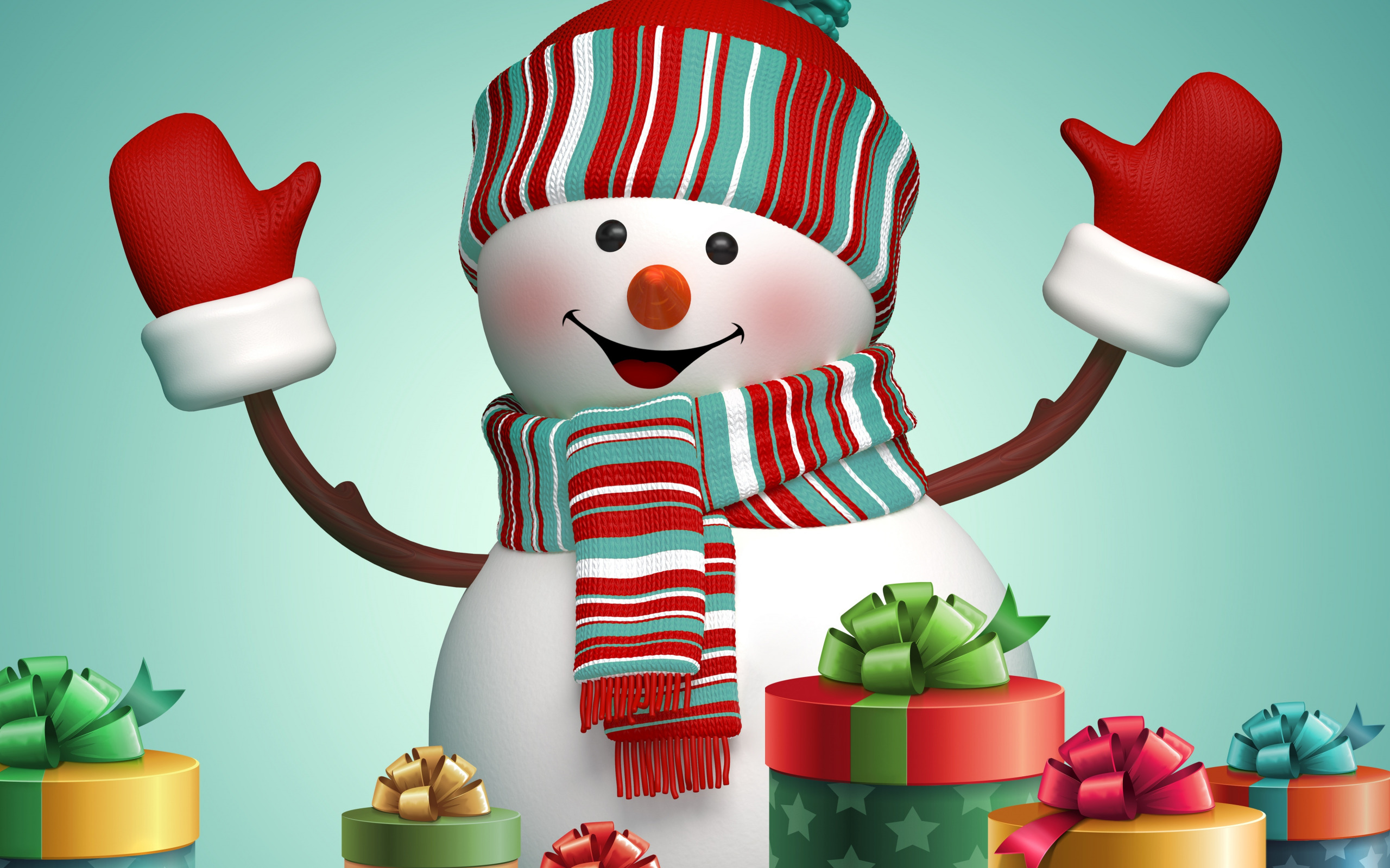 Поздравления снеговика на новый год