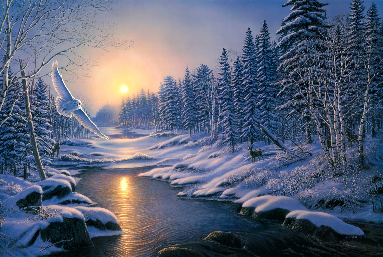 Обои На Телефон Зимние Пейзажи