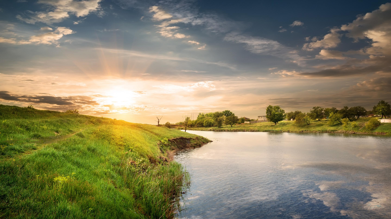 природа небо река  № 3804869 без смс