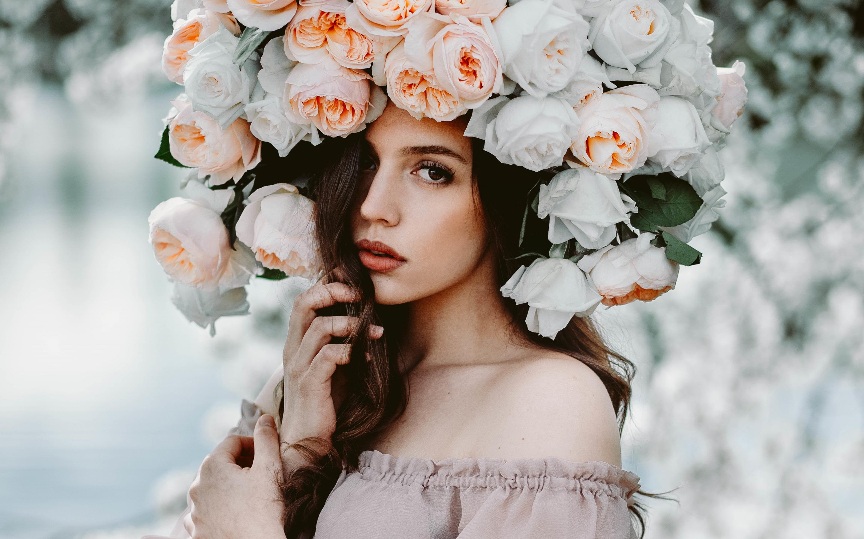 Днем, картинки для красивой девушки цветы