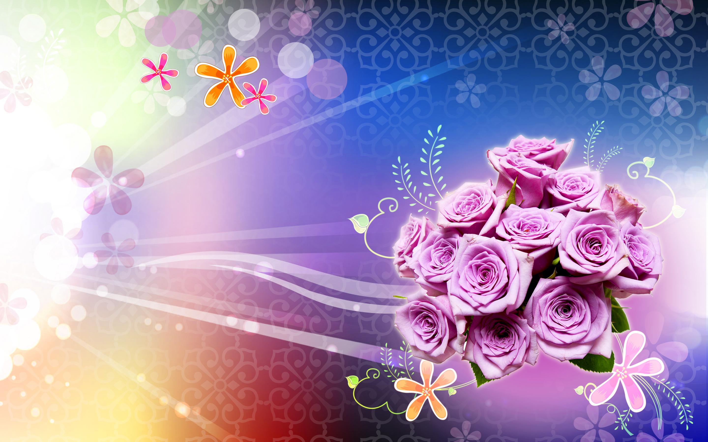 Фоновые открытки на день рождения, розами своими руками