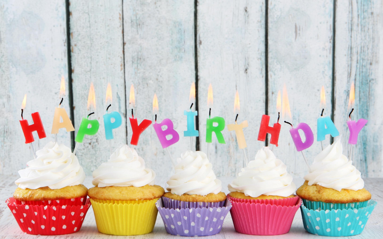 Открытки с днем рождения кекс, женские для