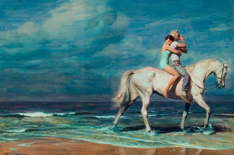 Открытки лошади у моря