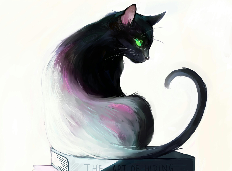 Картинки с прикольными арт котами, ночи картинки