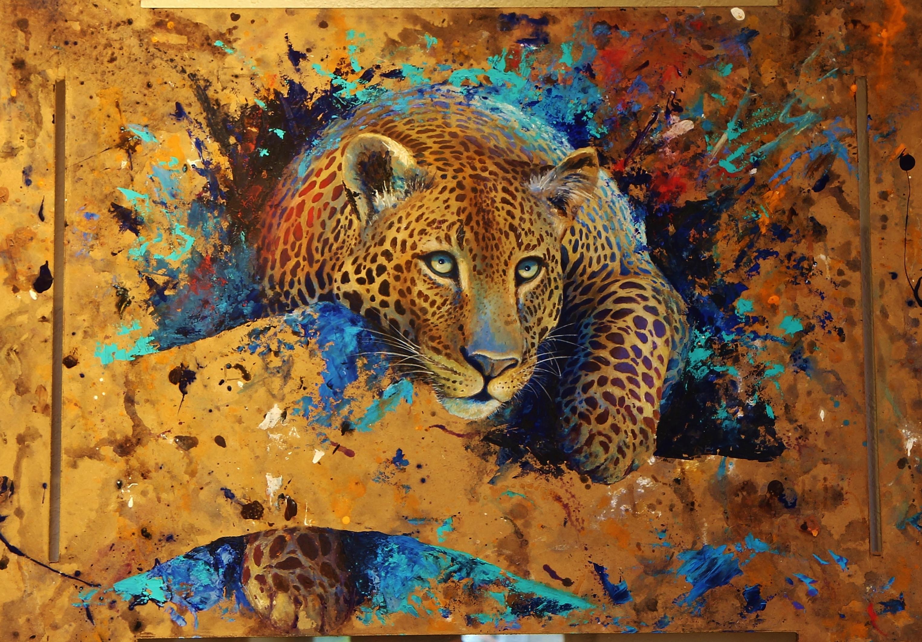 картинки леопарда абстракция может быть лучше
