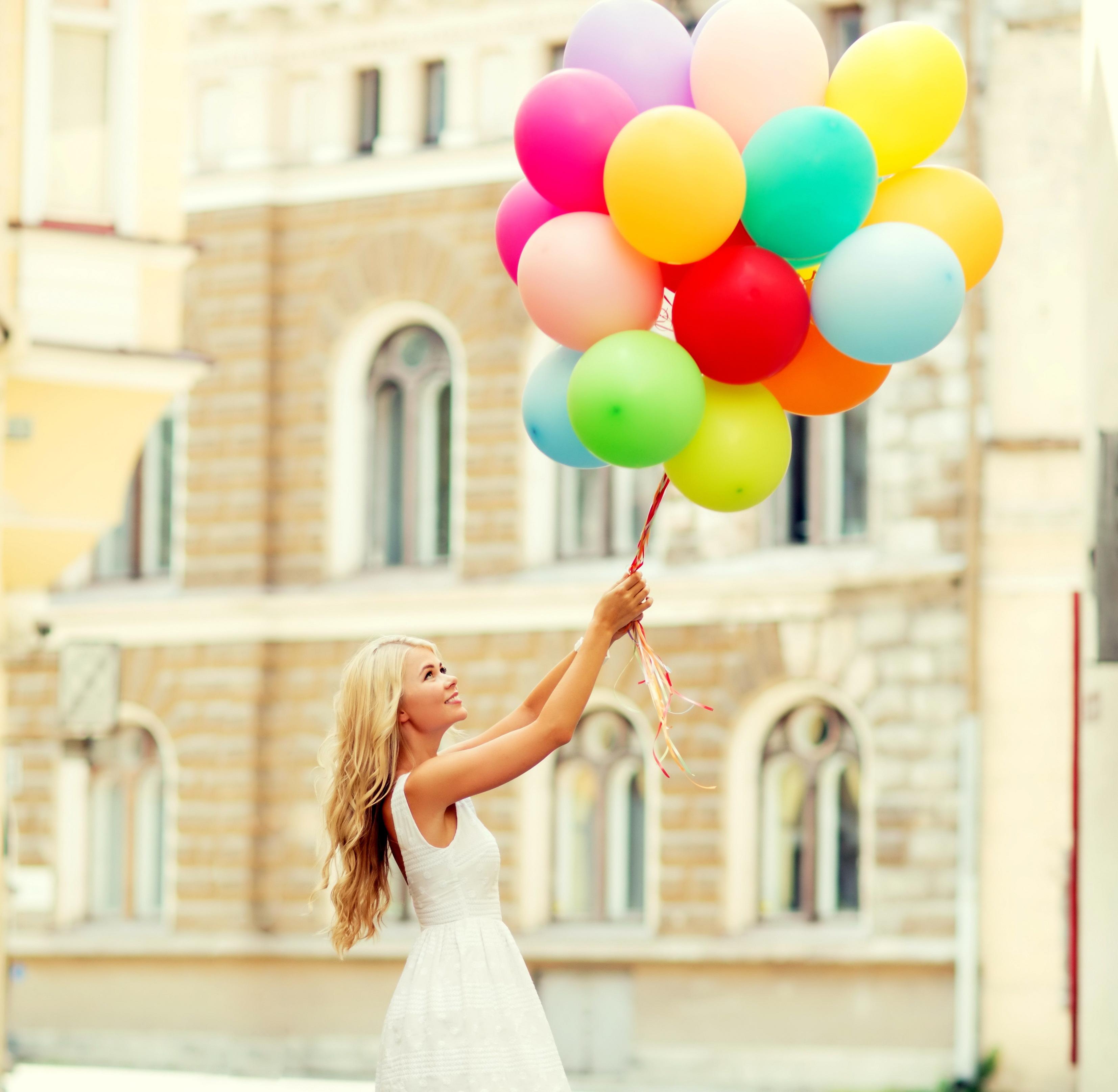 Марта для, девушка с шариками воздушными картинки
