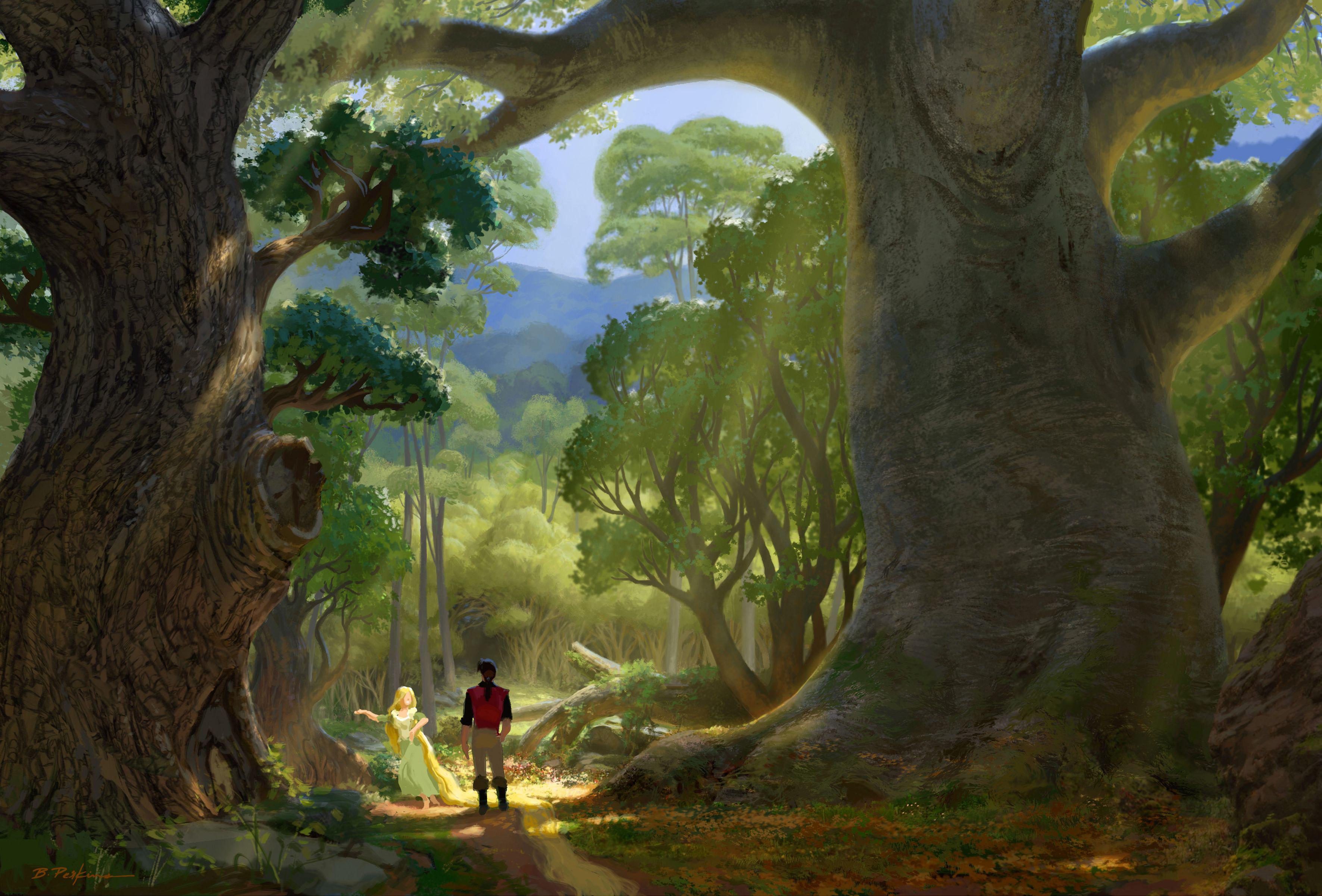 картинки деревьев из сказочного леса важнее