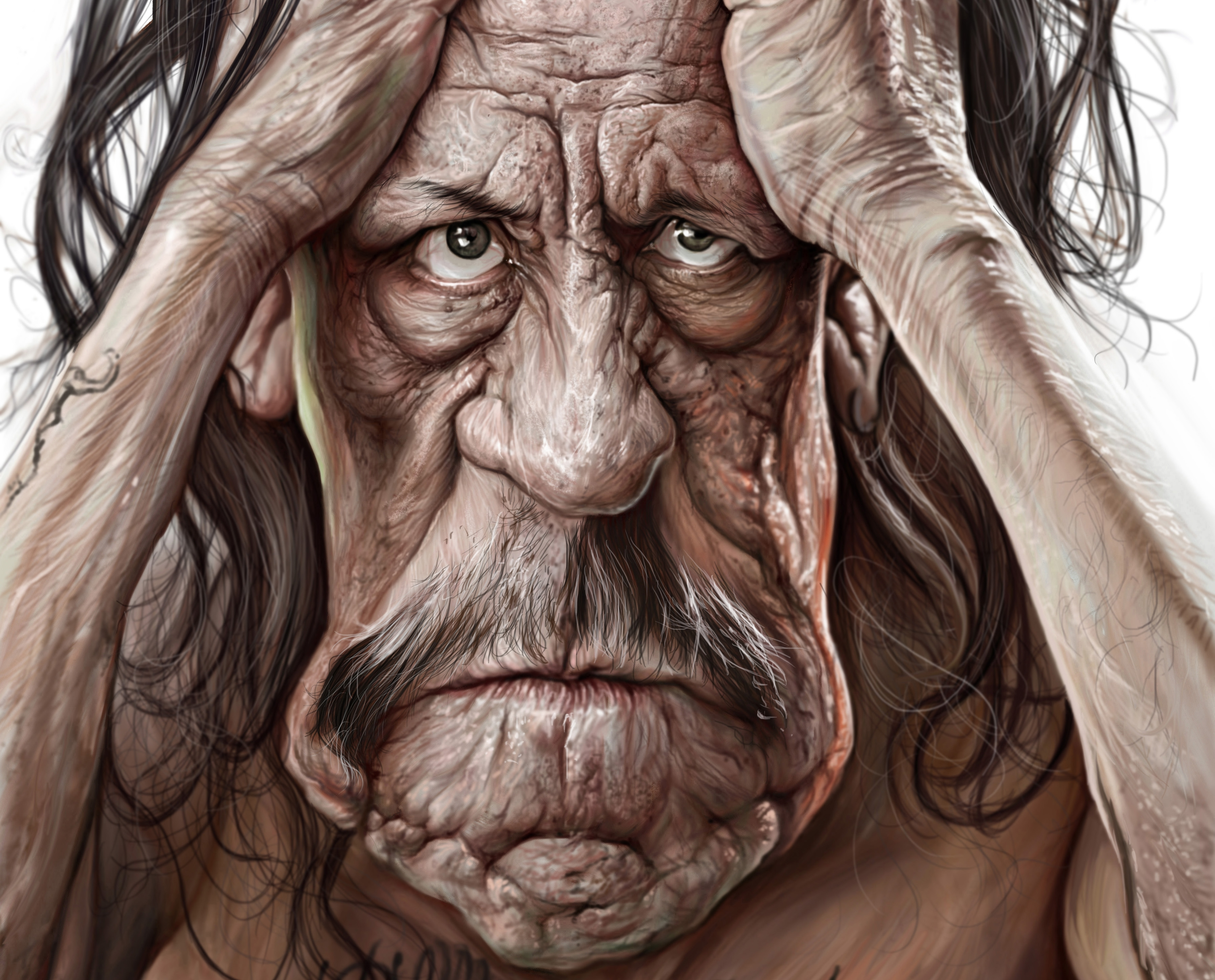 Народные, прикольные лица рисунок