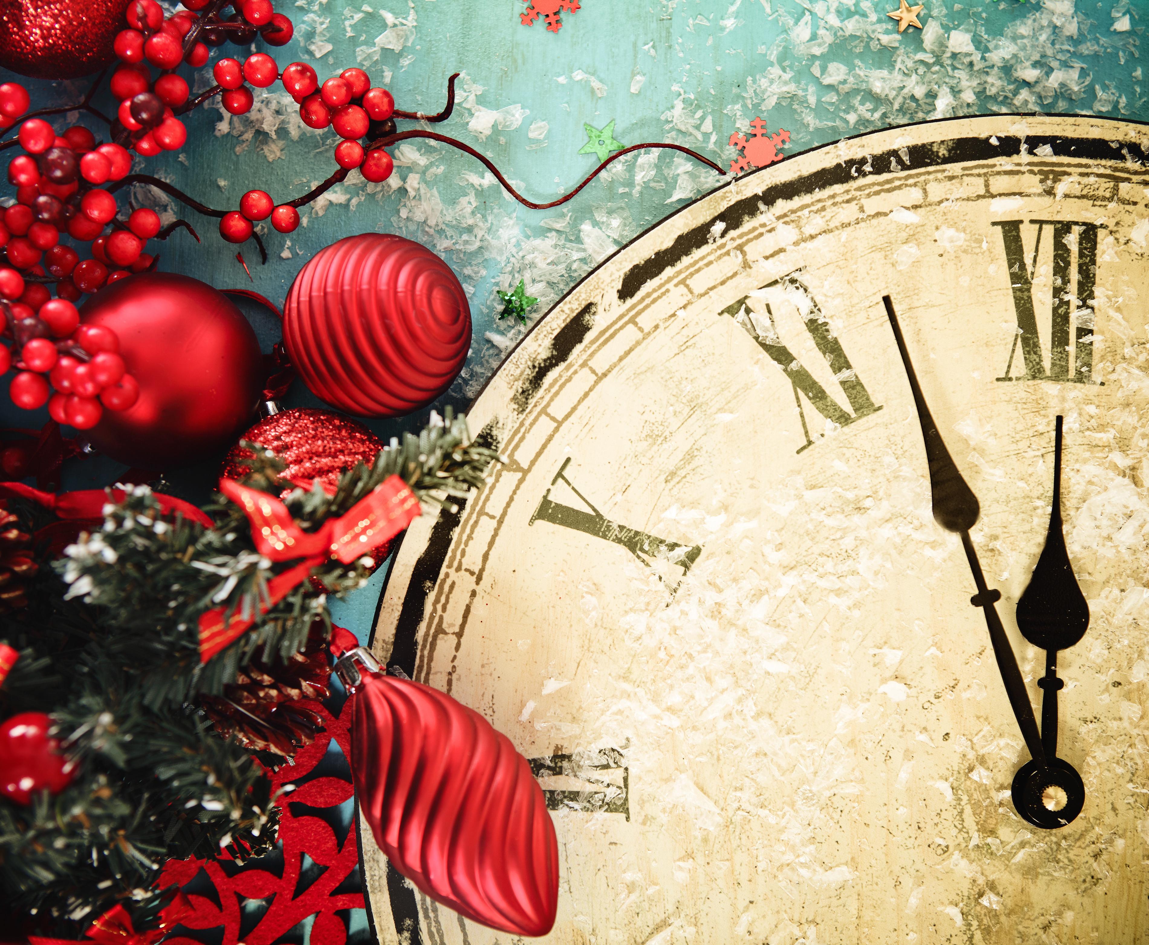 Картинки с новогодними часами задачи