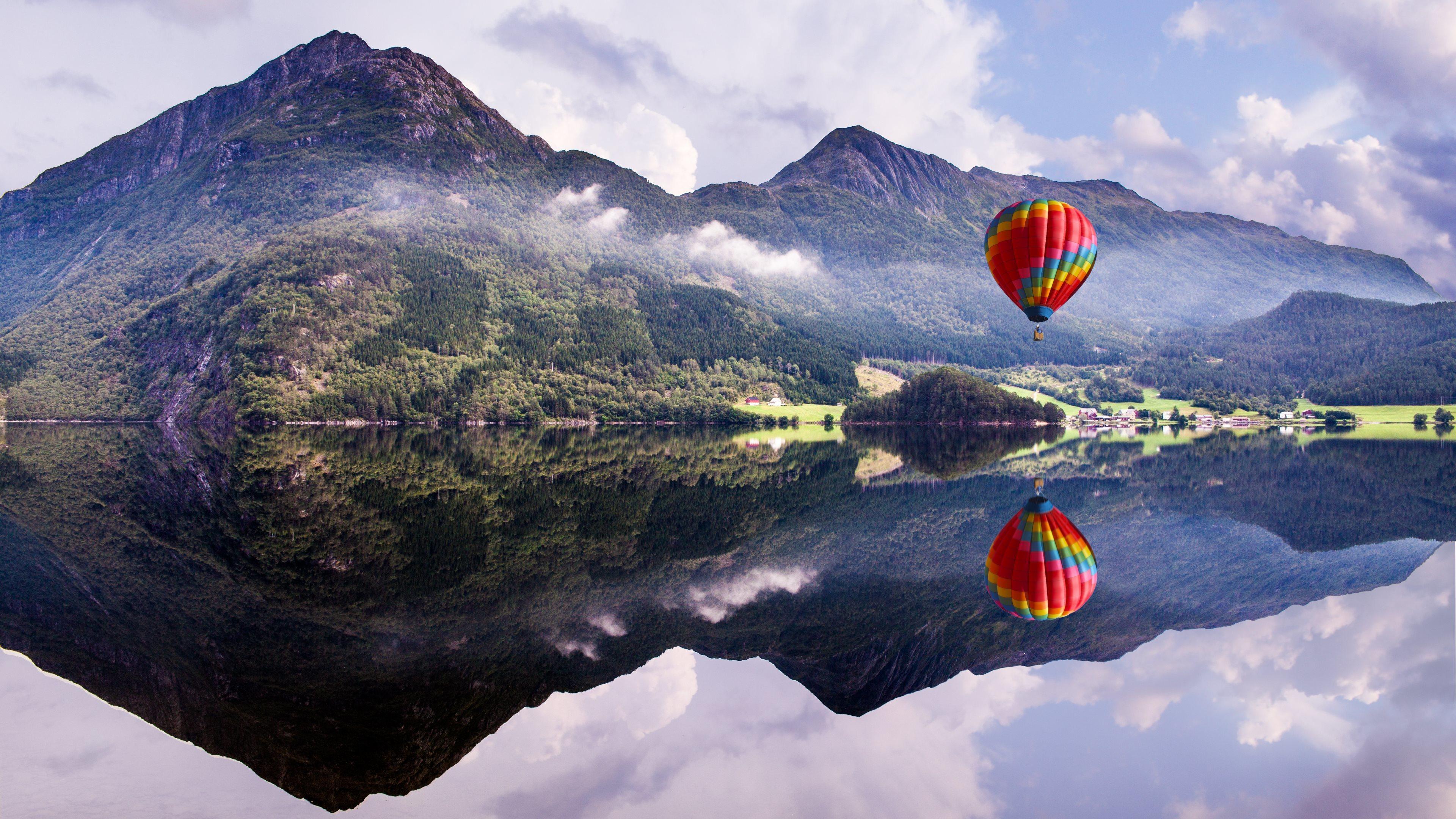 природа деревья архитектура мост воздушные шары аэростаты nature trees architecture the bridge air balls balloons  № 2627641 без смс