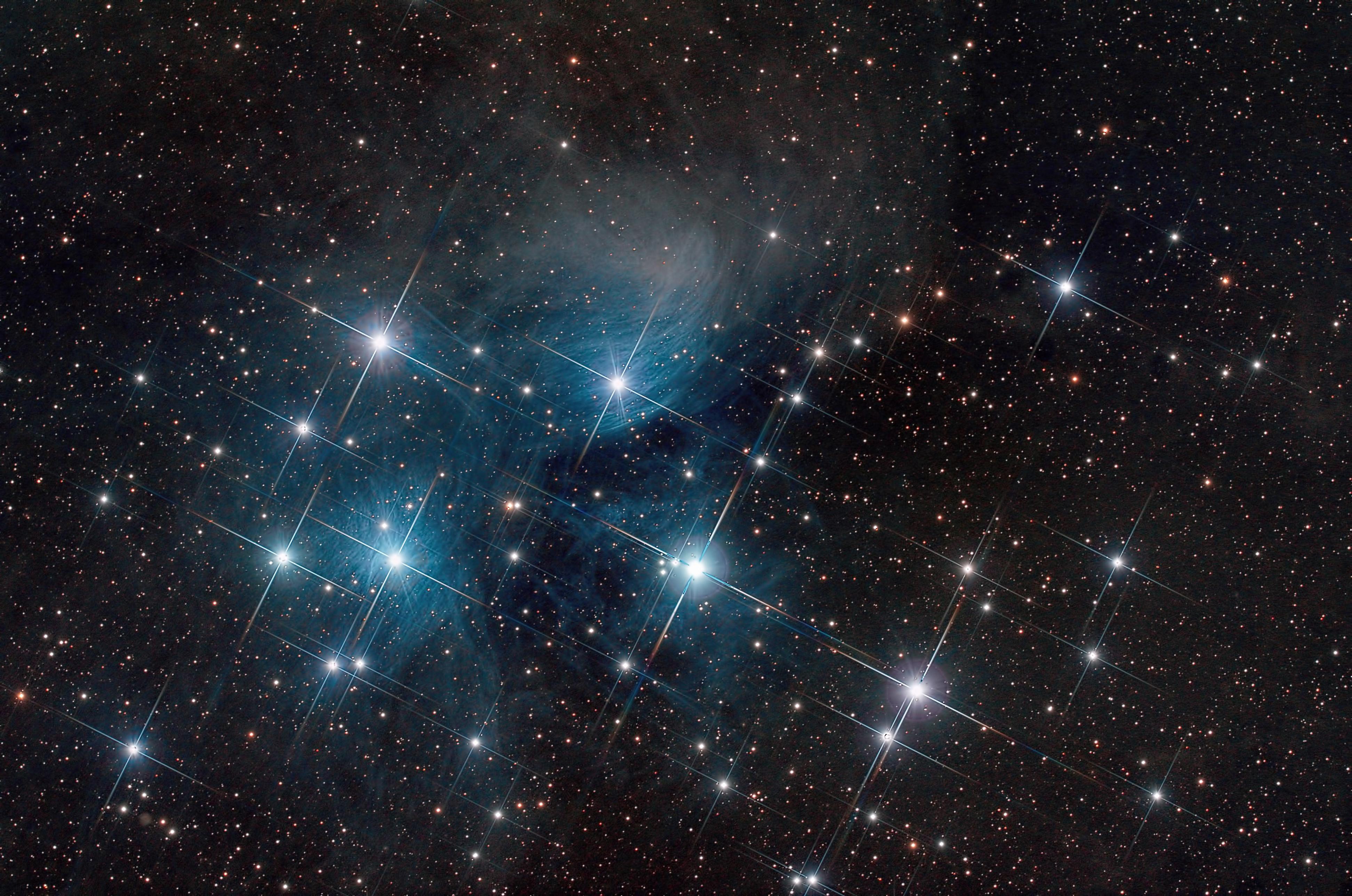 спины созвездие плеяд на фото вязка основном, выполняется