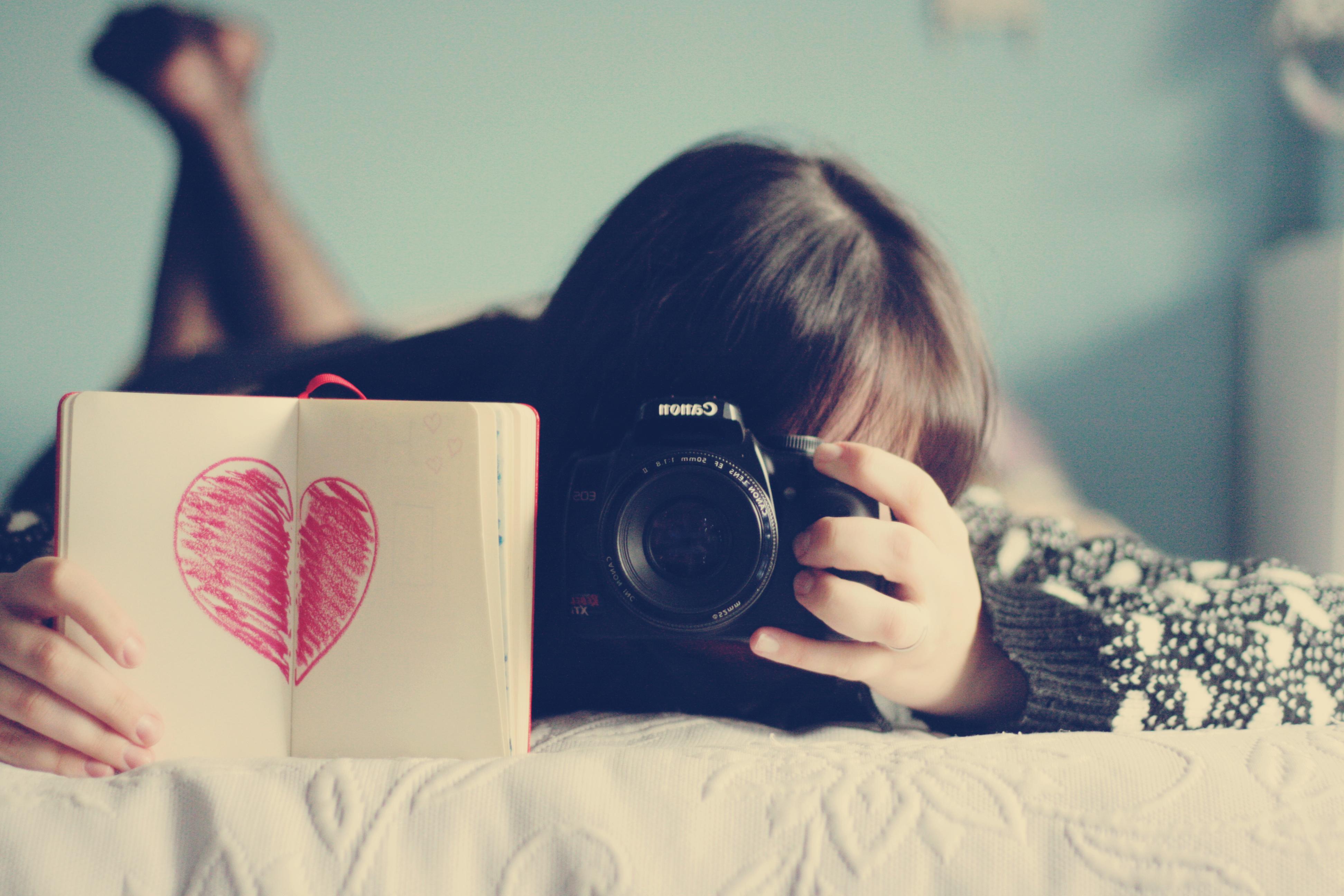 Девушка фотограф  № 524839 бесплатно