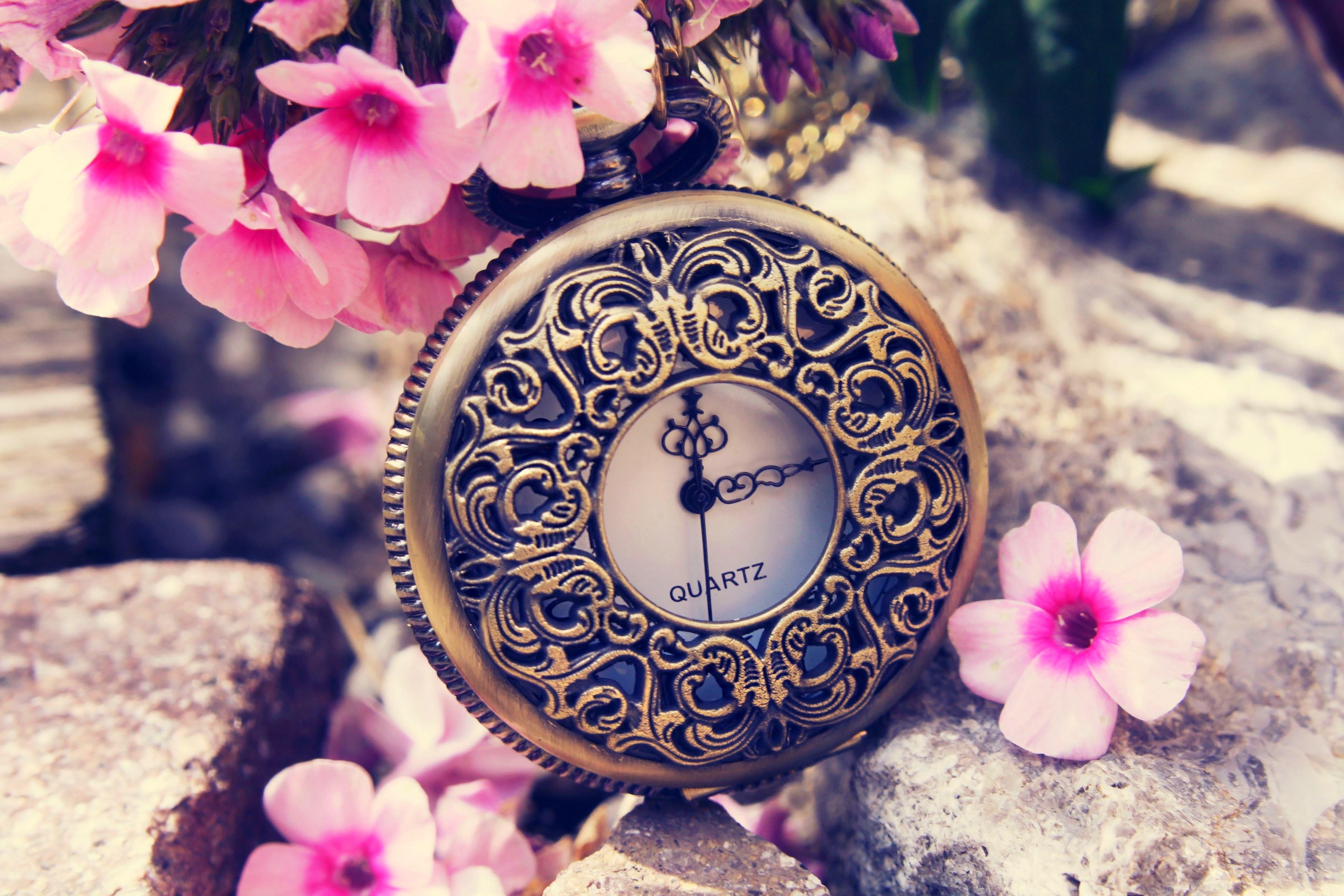 природа цветы часы  № 1520669 без смс