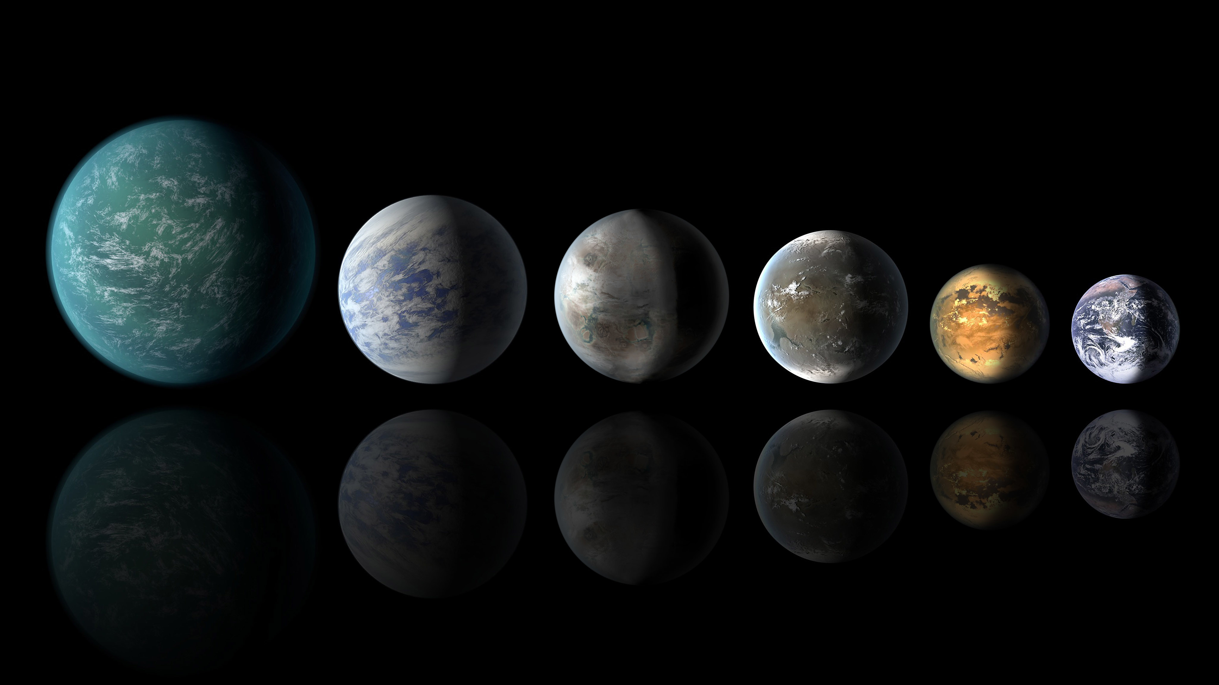 planets that look like earth - HD4096×2304