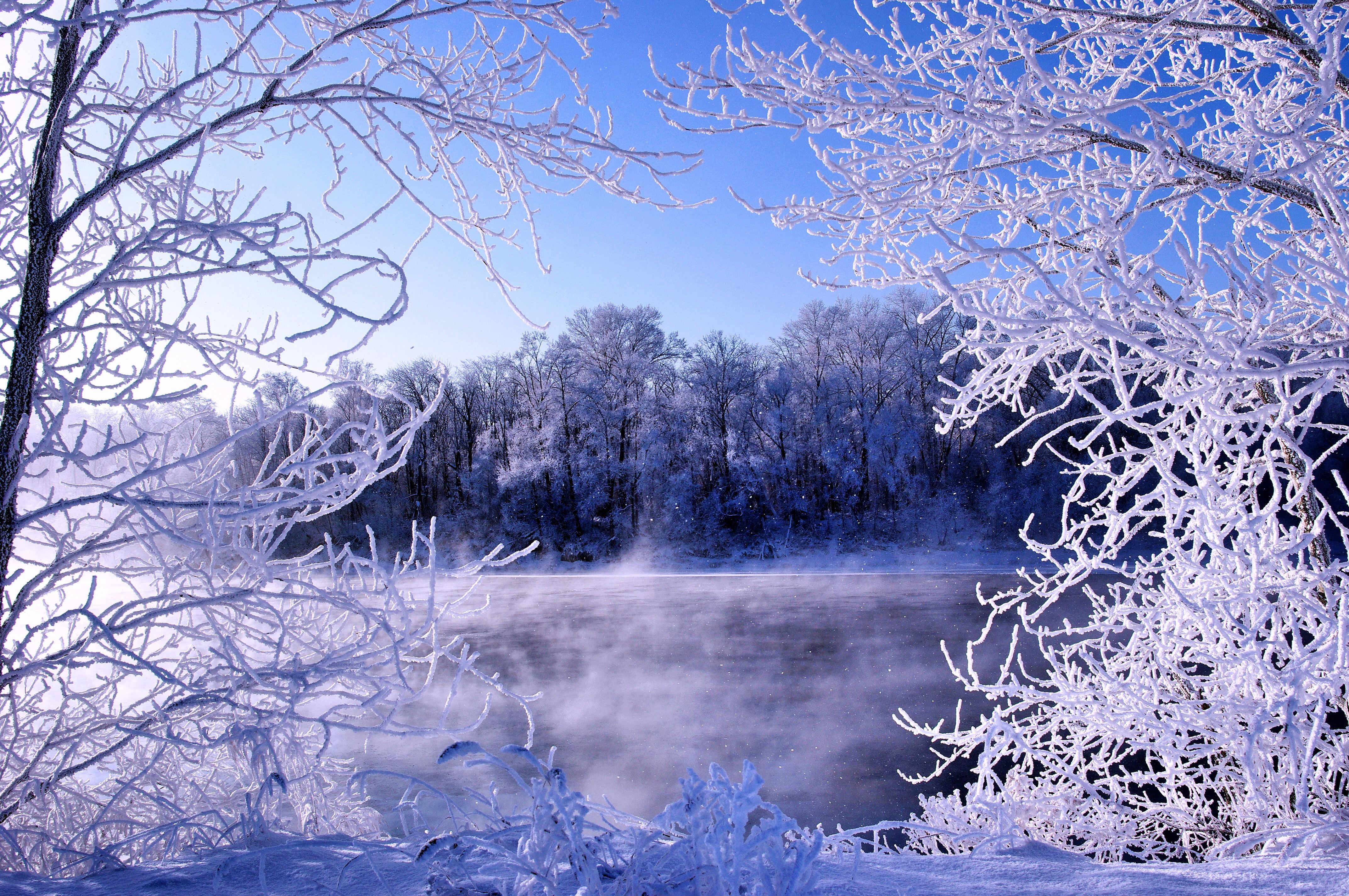речка мороз зима the river frost winter  № 456290 бесплатно
