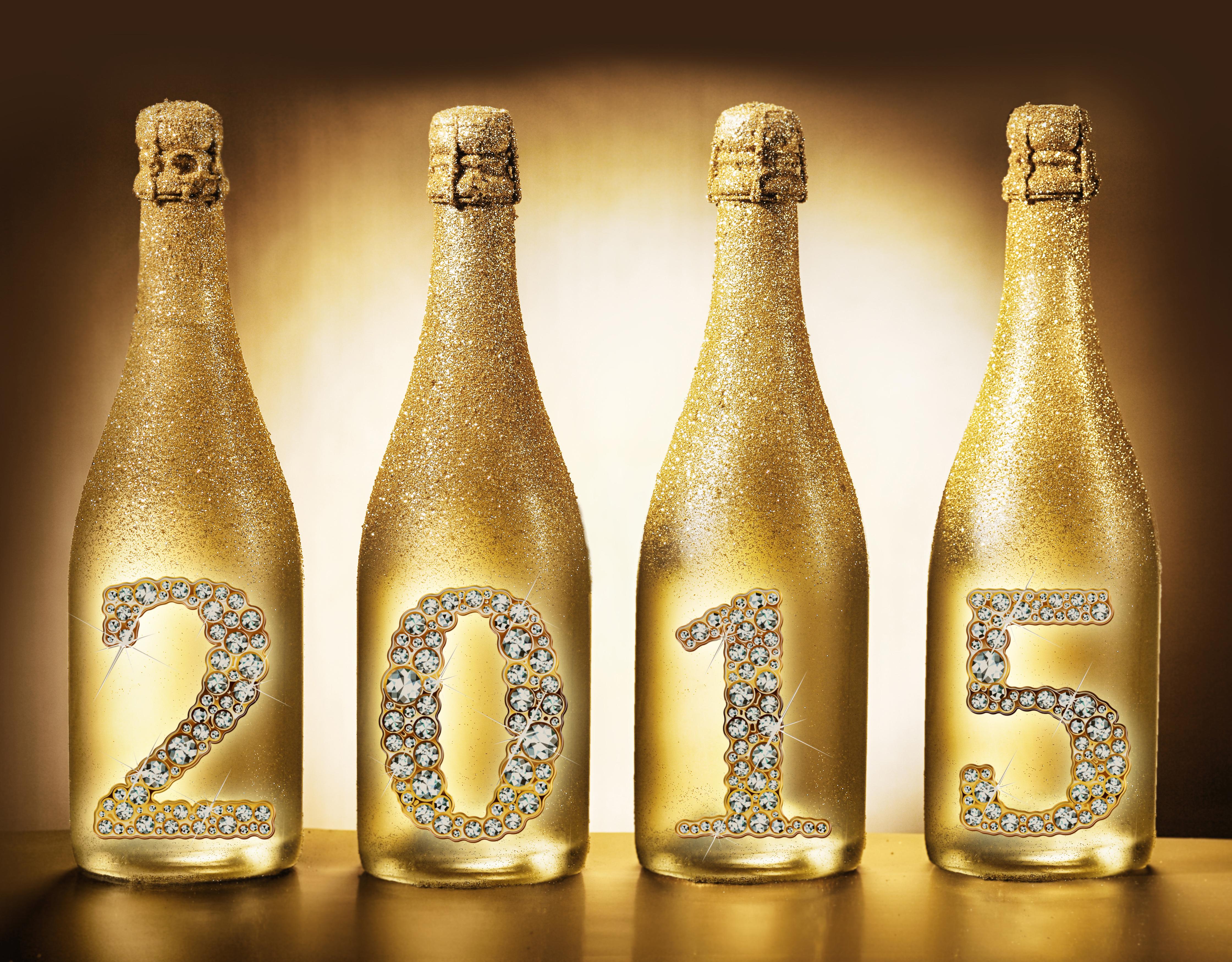 необычные, оформление шампанских бутылок в картинках двух выдающихся