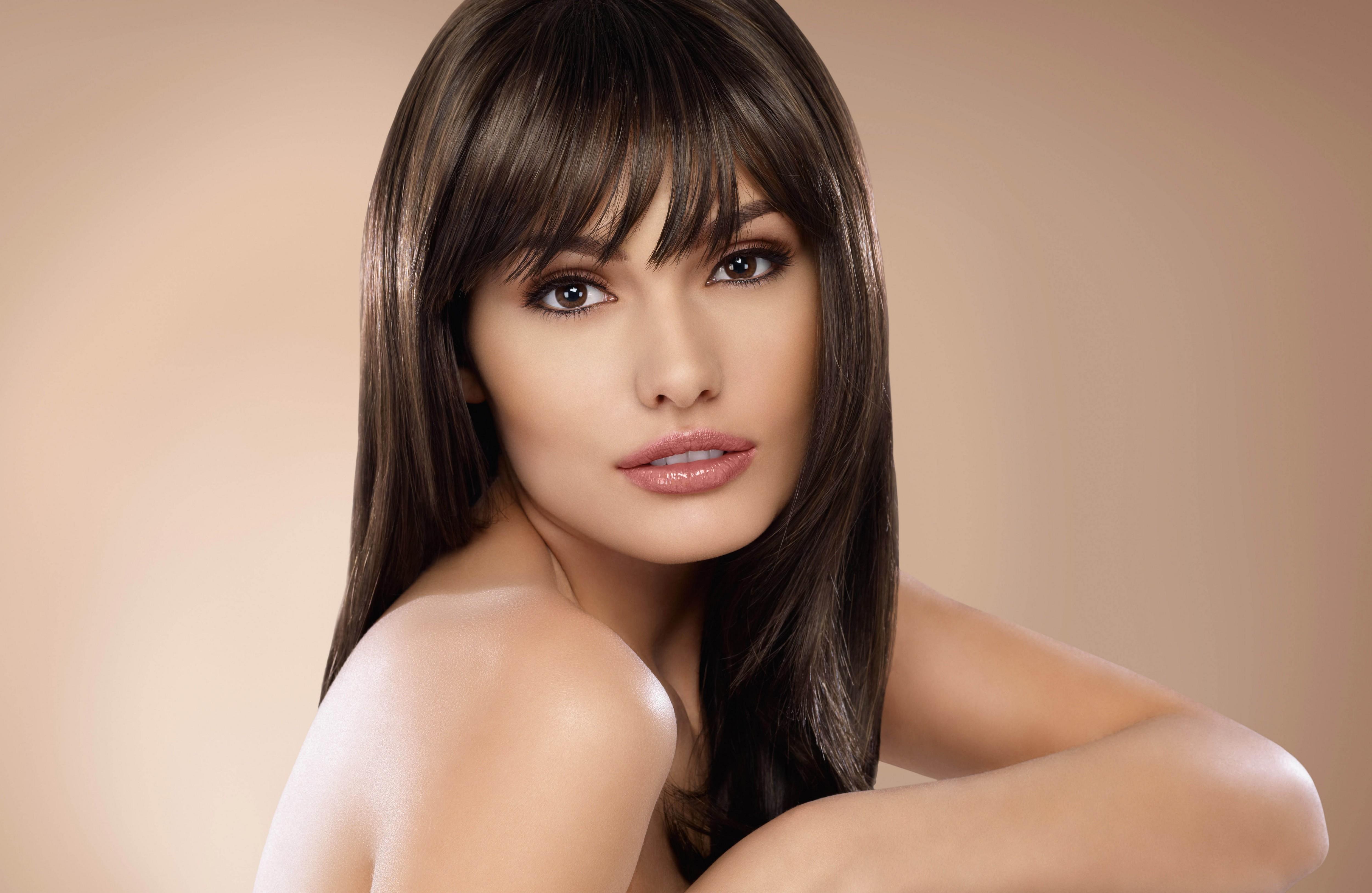 Фотографии красивых лиц девушек брюнеток 4 фотография
