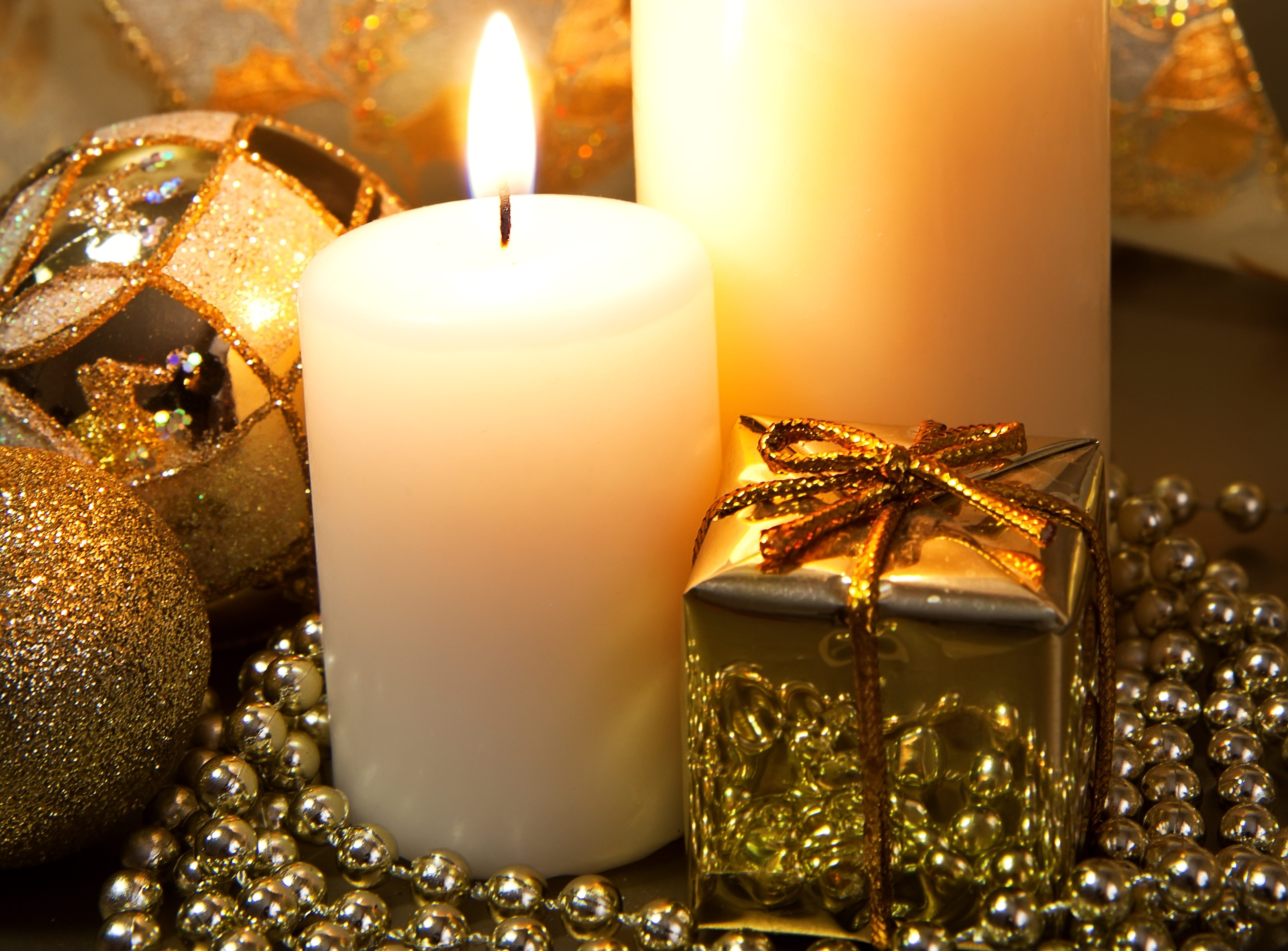 Картинки, свечи на новогодних открытках